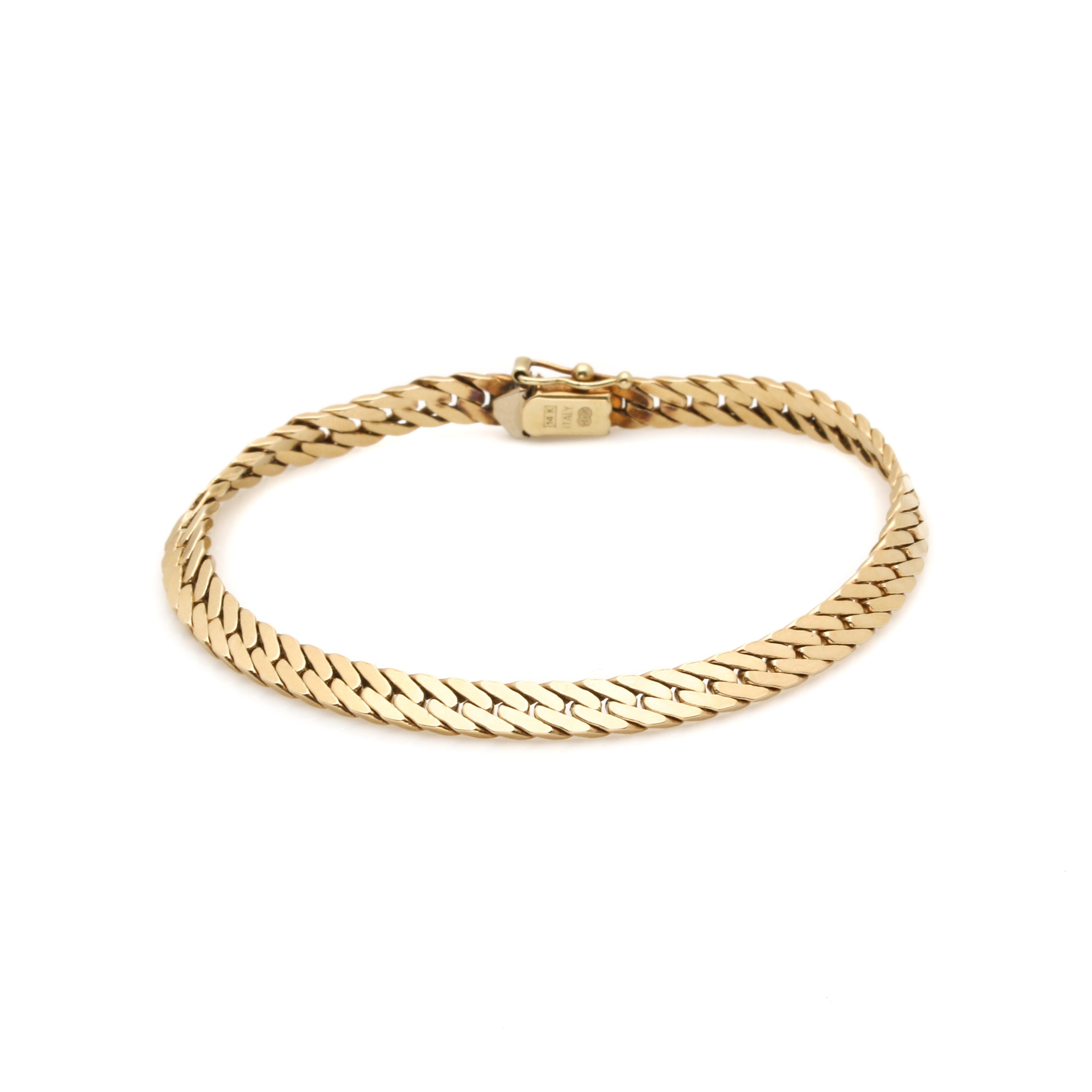 UnoAErre 14K Yellow Gold Fancy Link Chain Bracelet