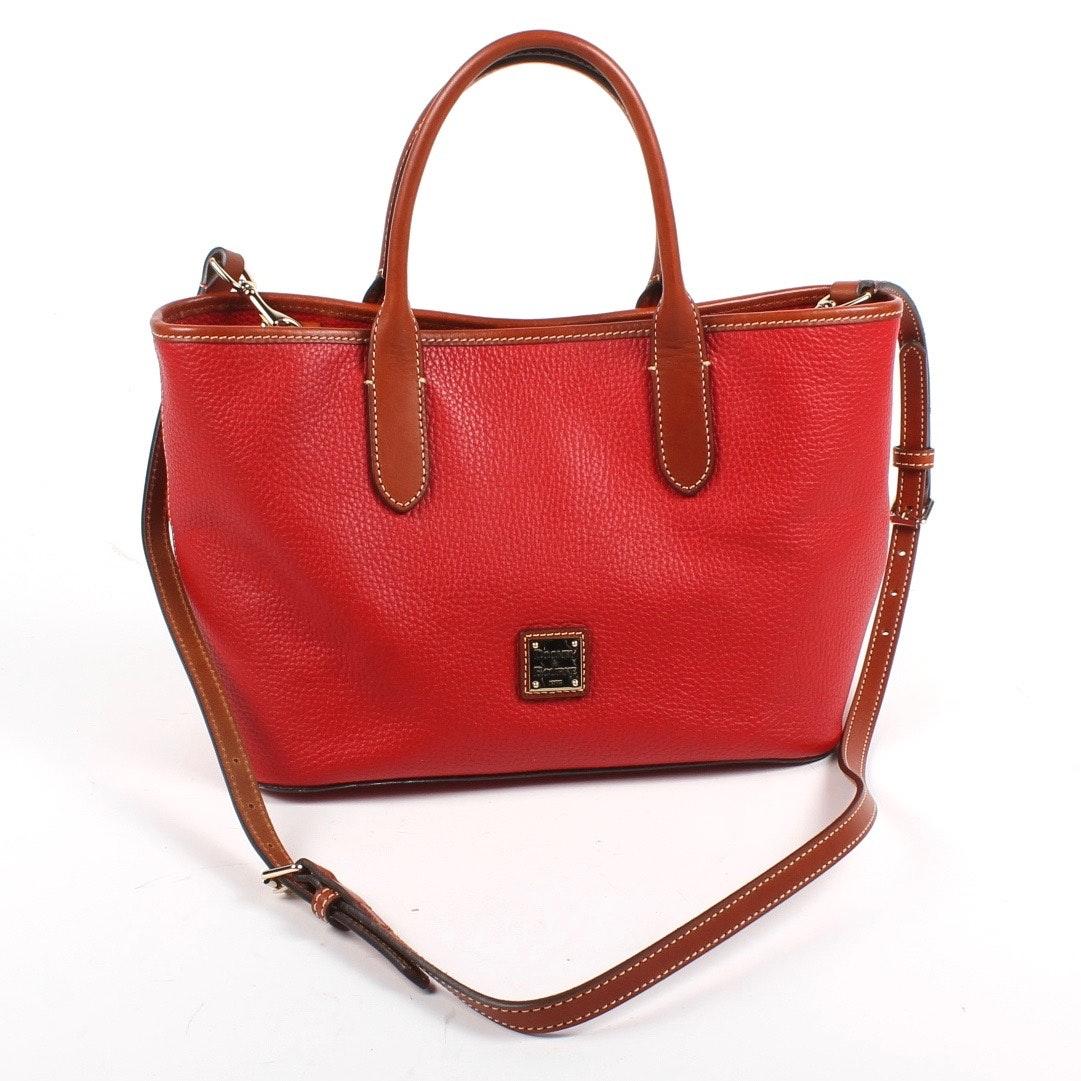 Dooney & Bourke Red Pebble Leather Handbag