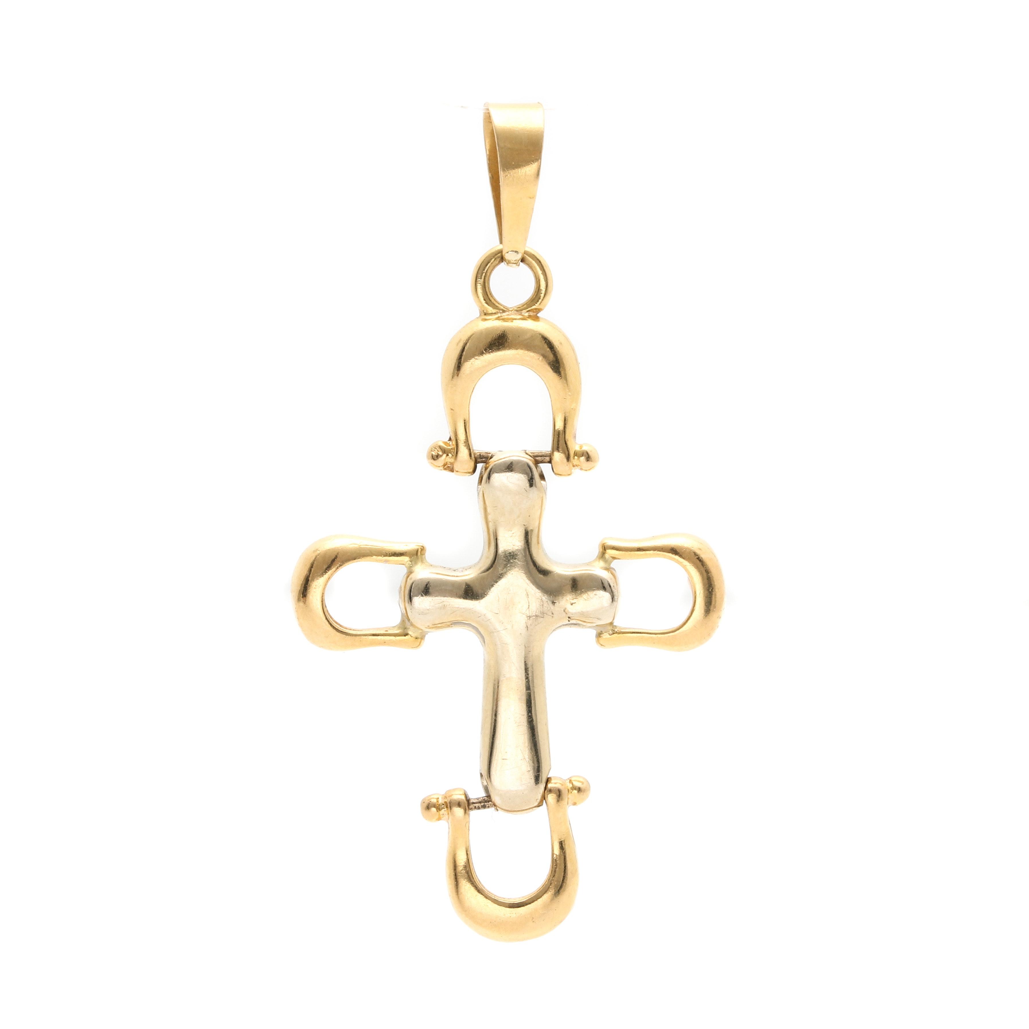 18K Yellow Gold Cross Pendant