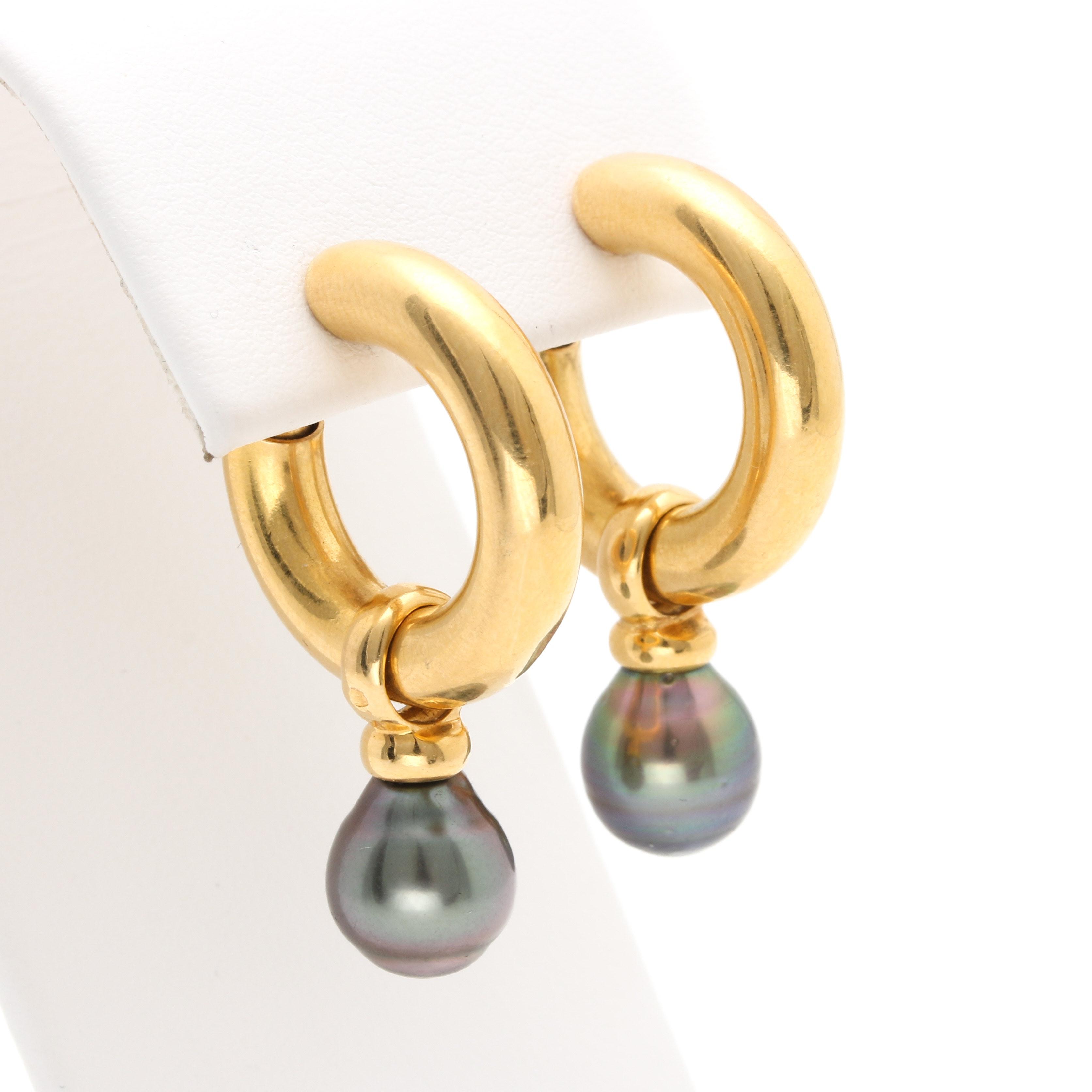18K Yellow Gold Tahitian Cultured Pearl
