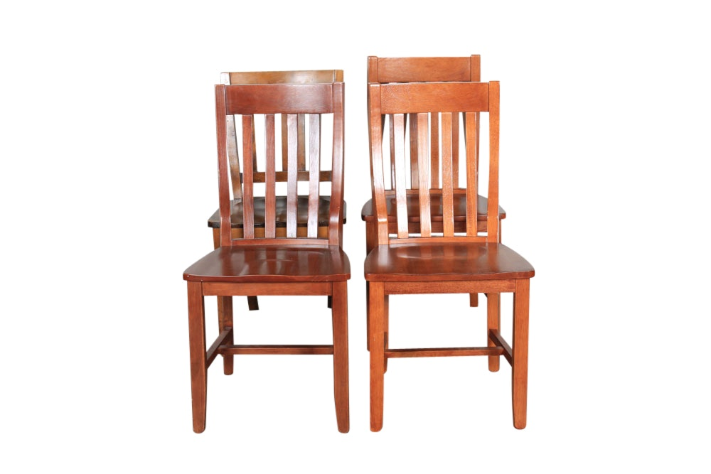 Mission Style Birch Side Chairs