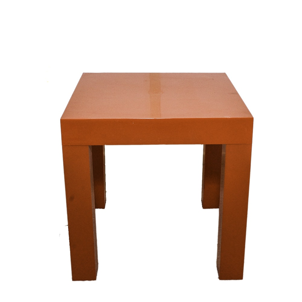 Modern Style Red Plastic End Table