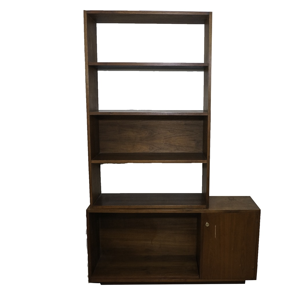 Danish Modern Style Teak Bookcase and Cabinet