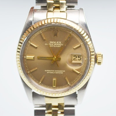 Rolex Oyster Perpetual Datejust 14K Yellow Gold Wristwatch