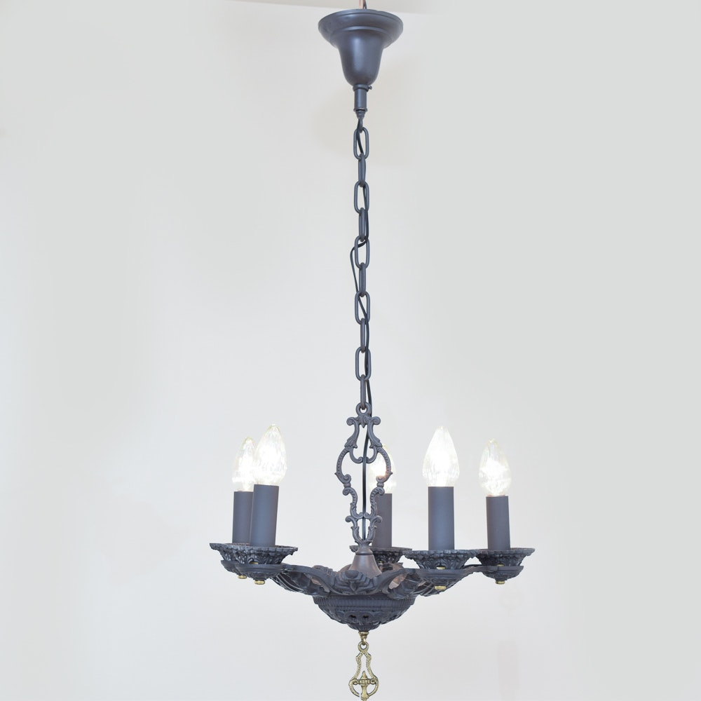 Black Finish Metal Chandelier