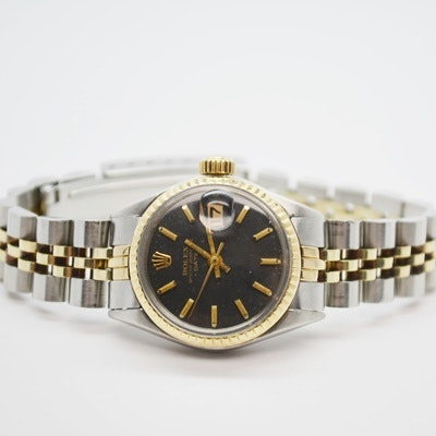 Rolex Oyster Perpetual Date 14K Yellow Gold Wristwatch