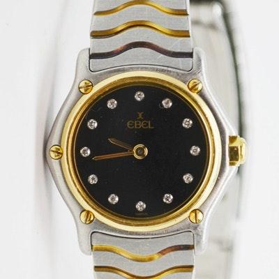 Ebel 18K Yellow Gold and Diamond Wristwatch