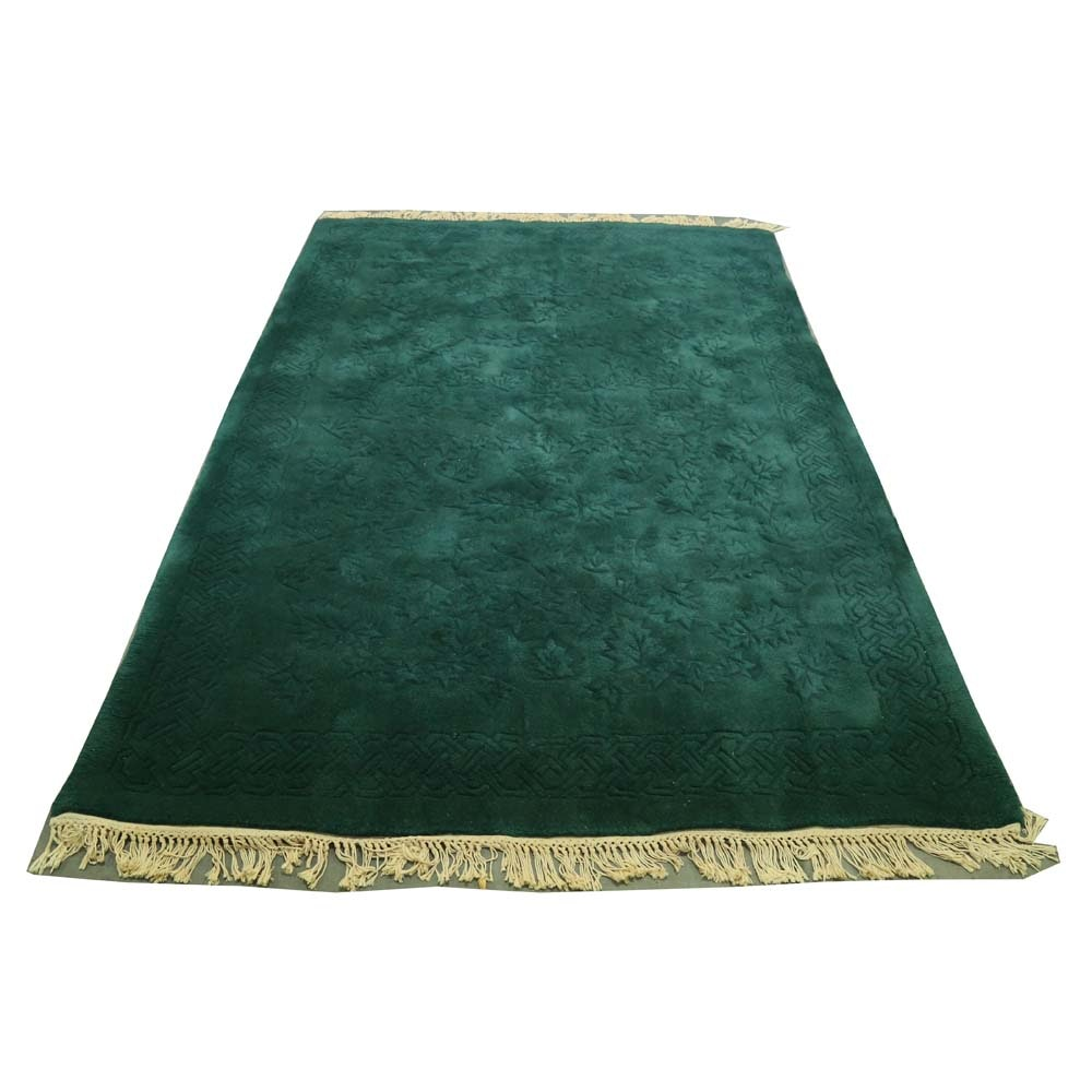 "Tufted Chinese Carved Wool ""Foliage"" Area Rug"
