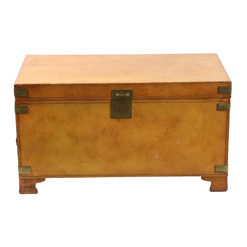 Leather Upholstered Trunk by Vanguard
