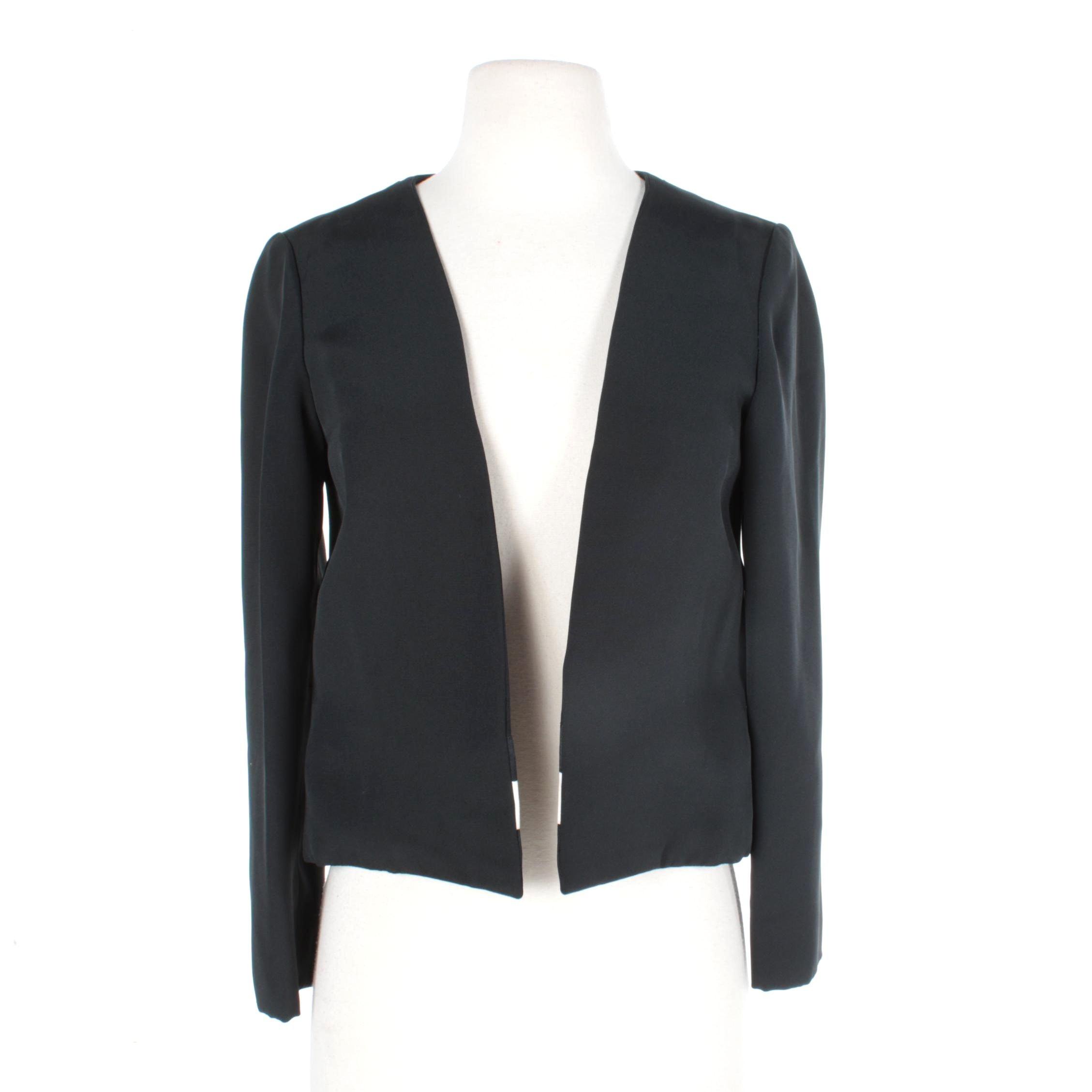 Women's Vintage Cardinali Black Silk Suit Jacket