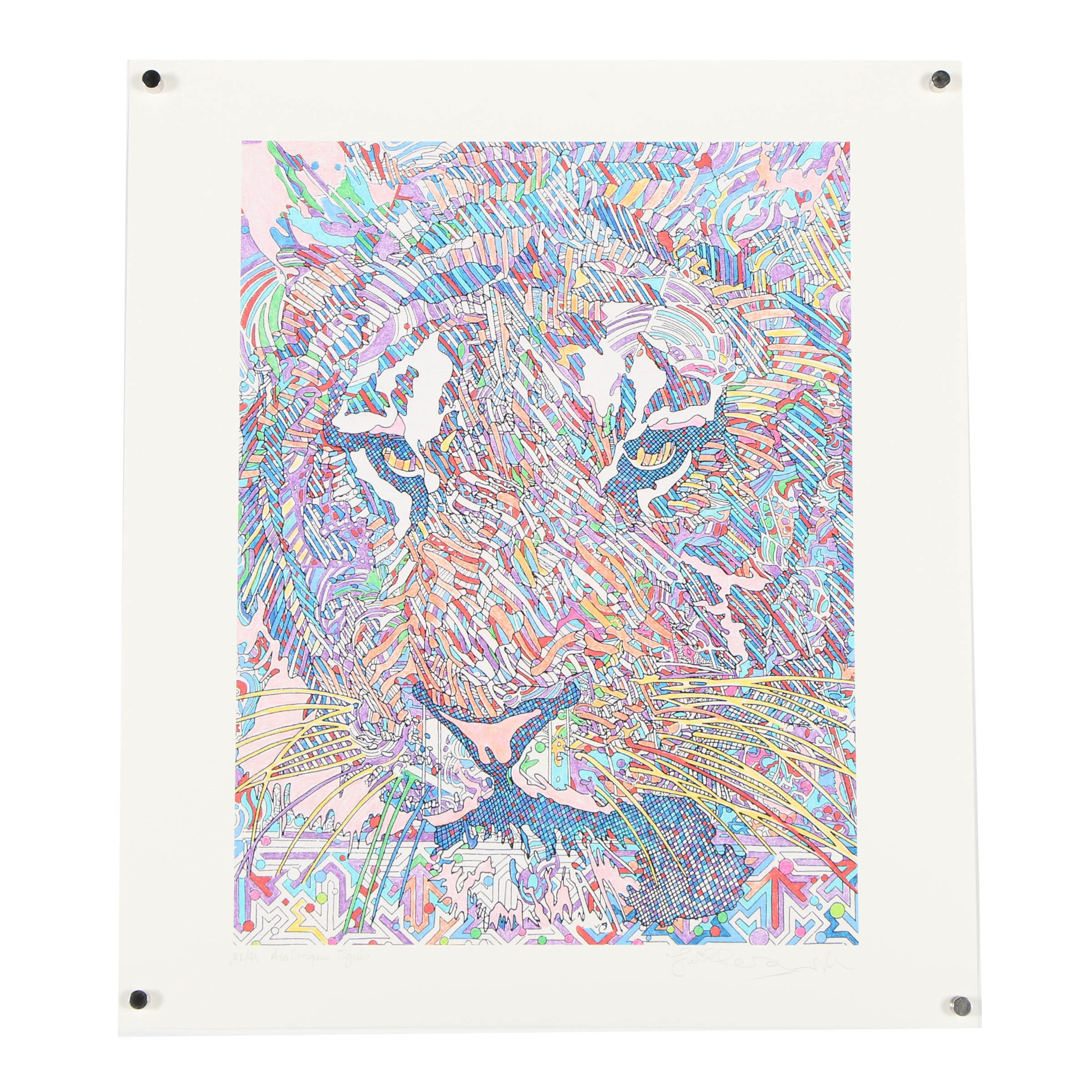 """Guillaume Azoulay Limited Edition Giclee """"Arabesques Tigrees"""""""