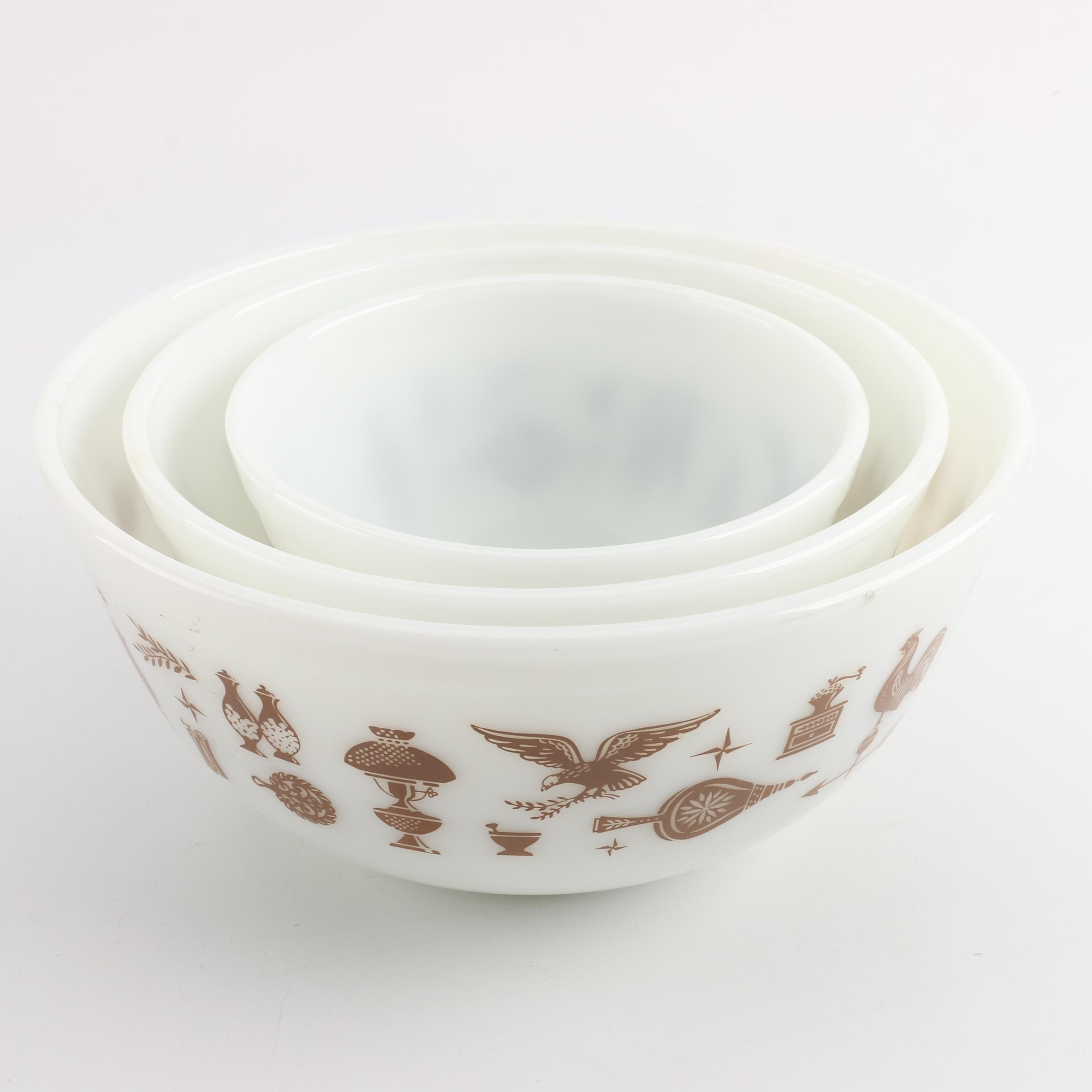 "Pyrex ""Early American"" Nesting Mixing Bowls"