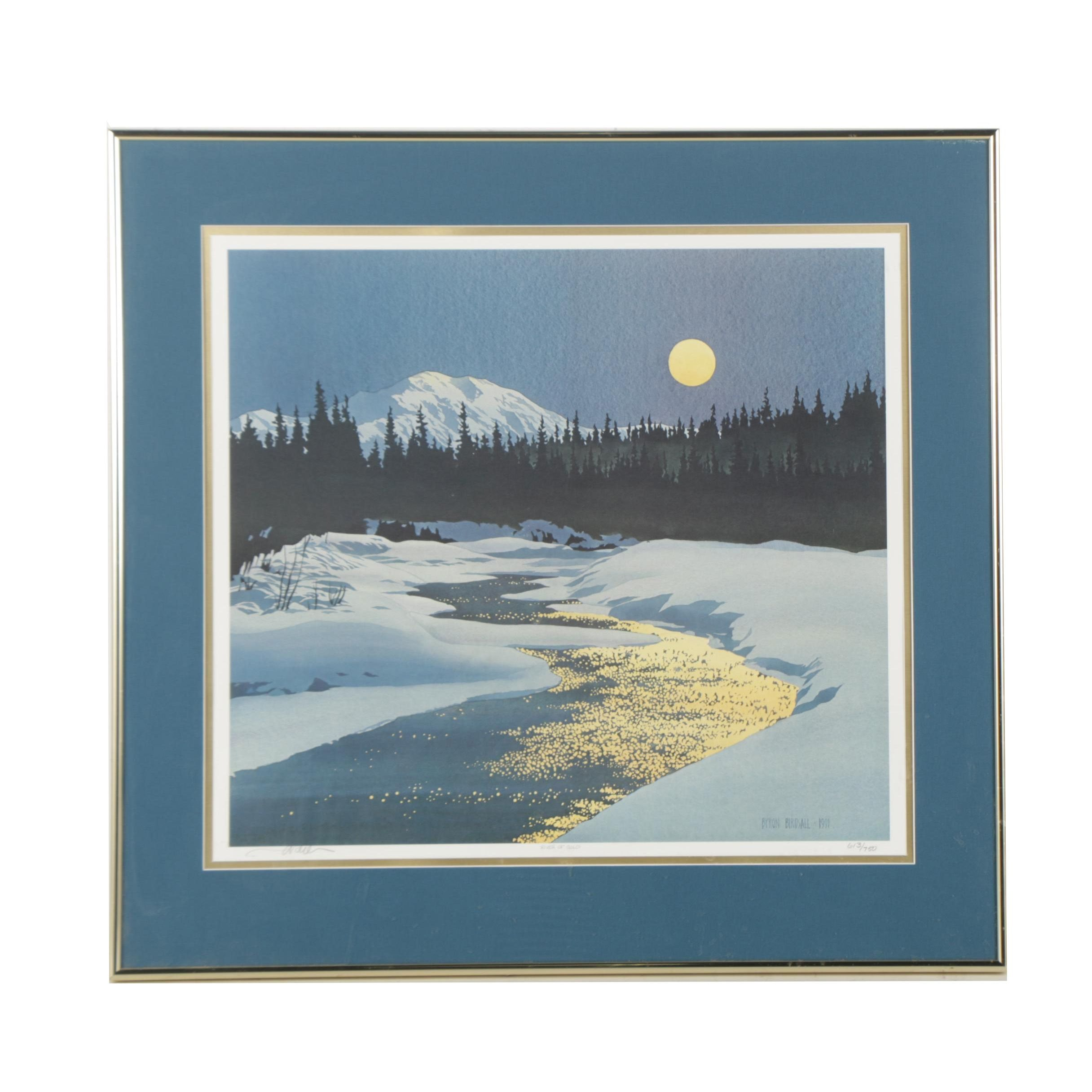 """Limited Edition Offset Lithograph After Byron Birdsall """"River of Gold"""""""