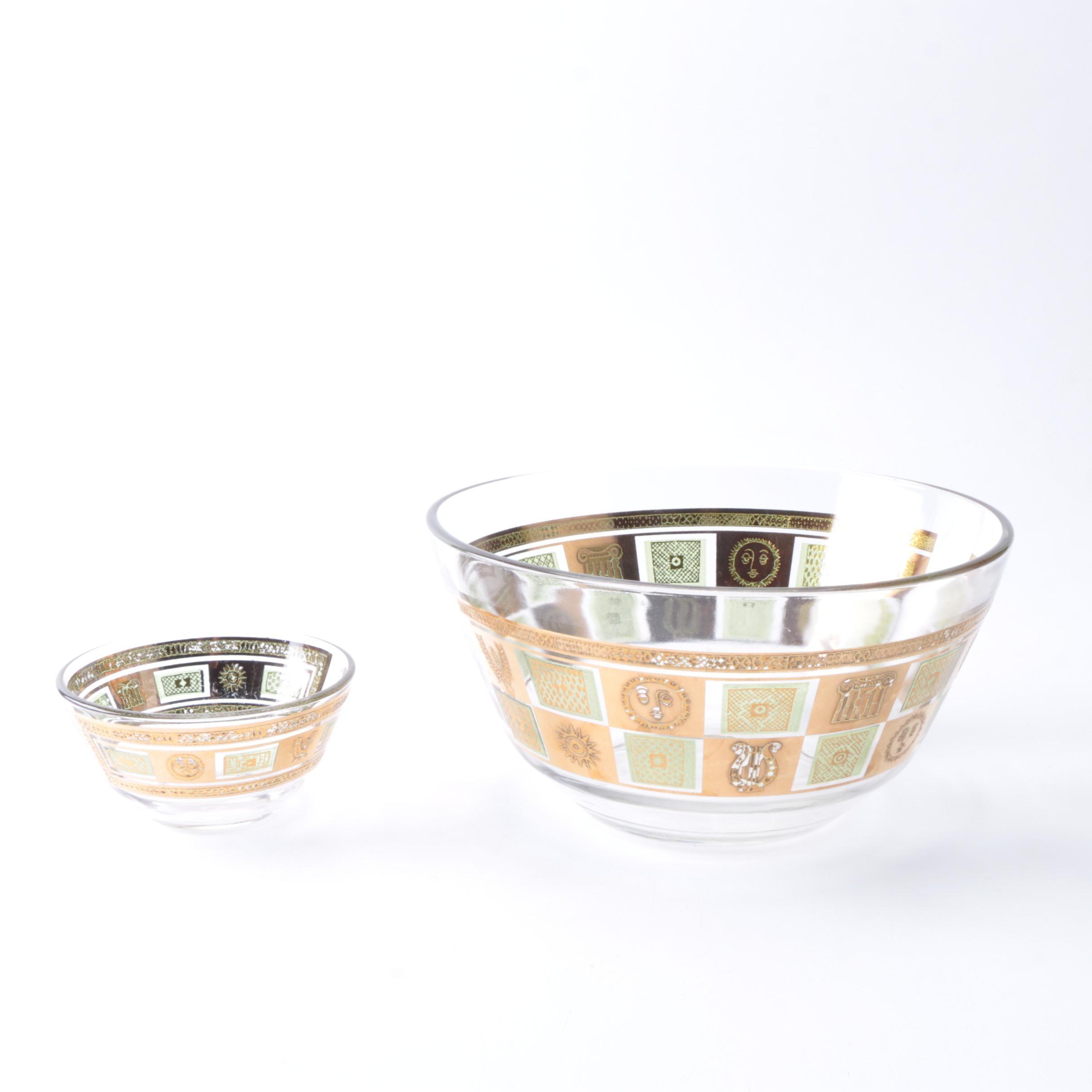 "Vintage Georges Briard ""Celeste"" Glass Bowls"