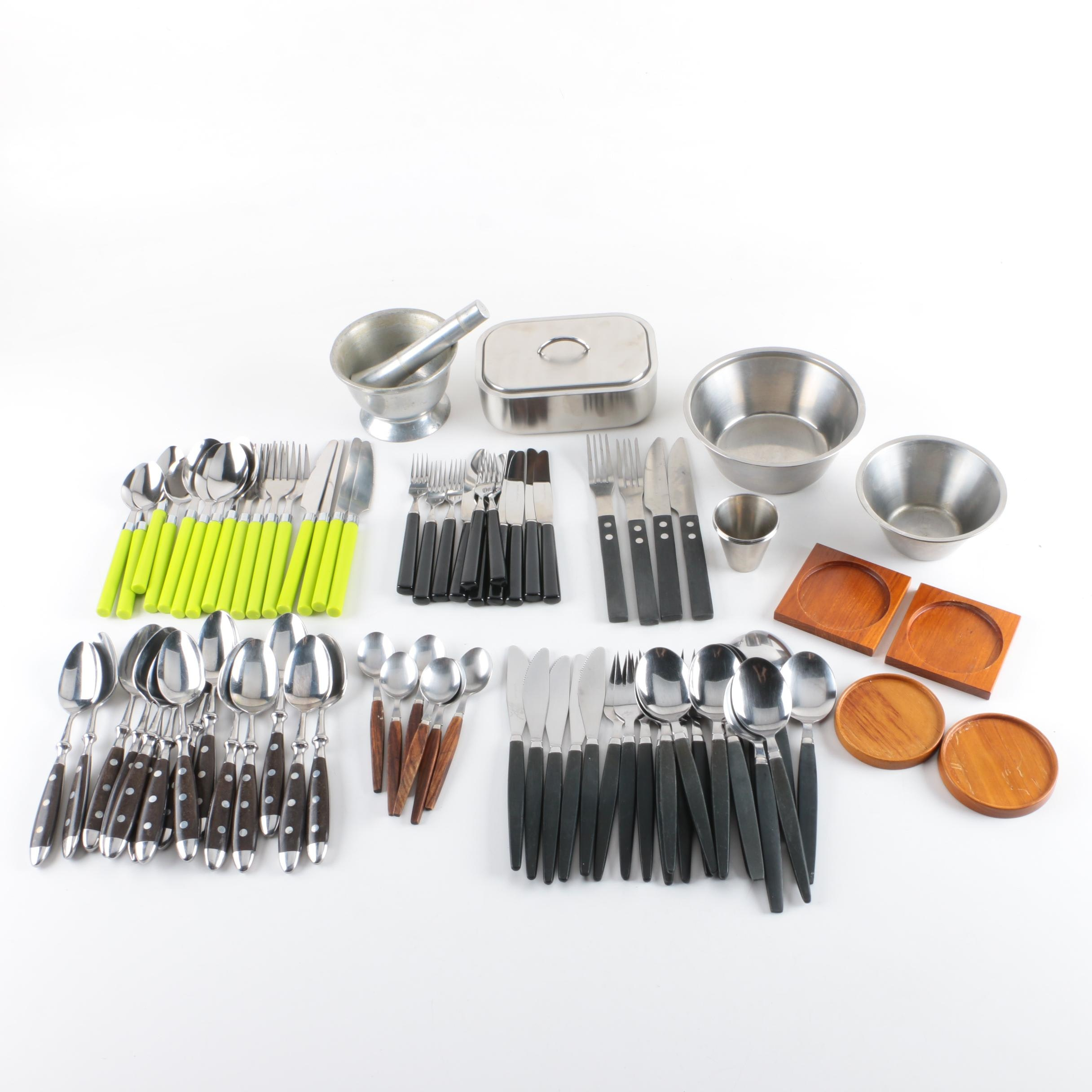 Swedish Stainless Tableware and Flatware Assortment