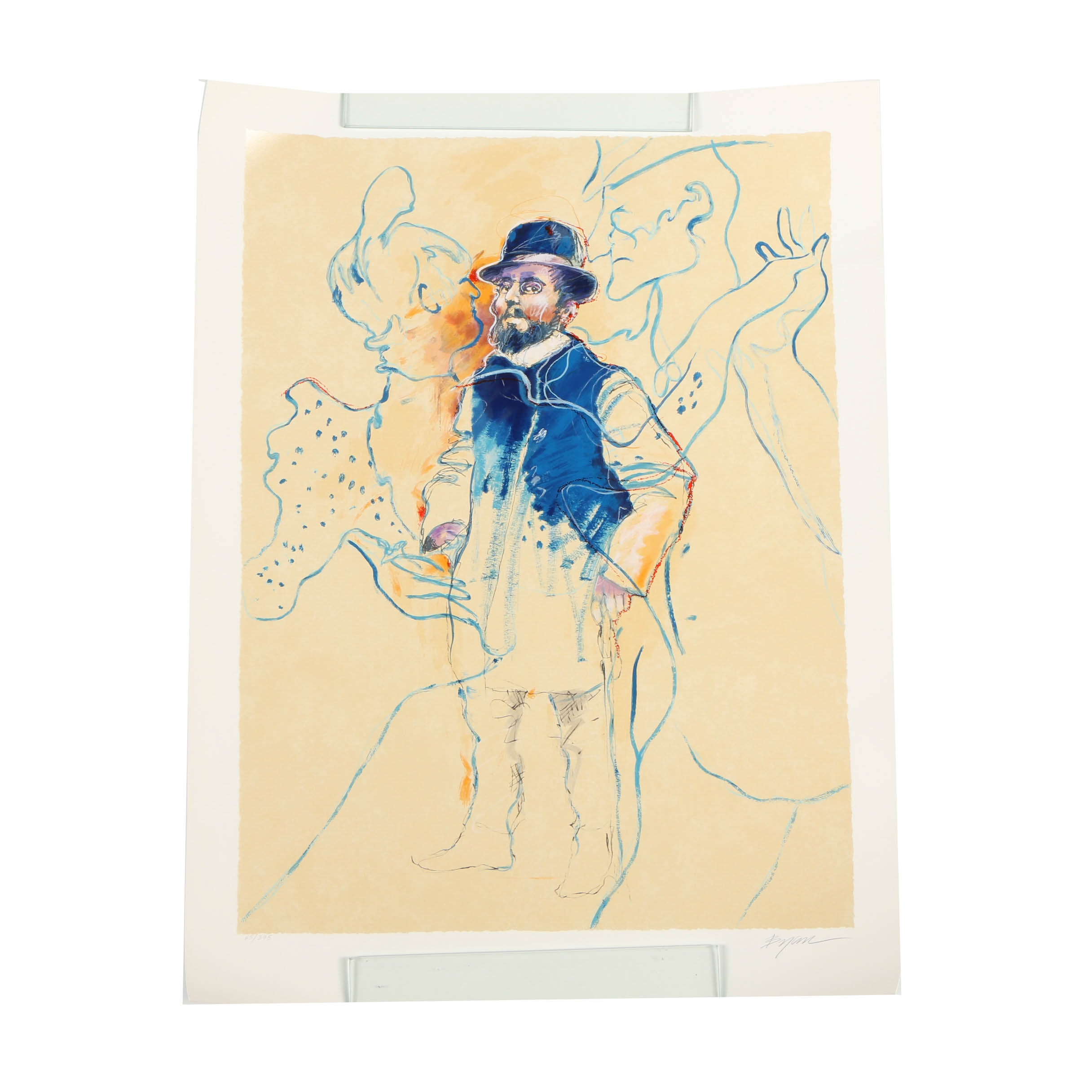"Michael Bryan Limited Edition Serigraph ""Lautrec"""