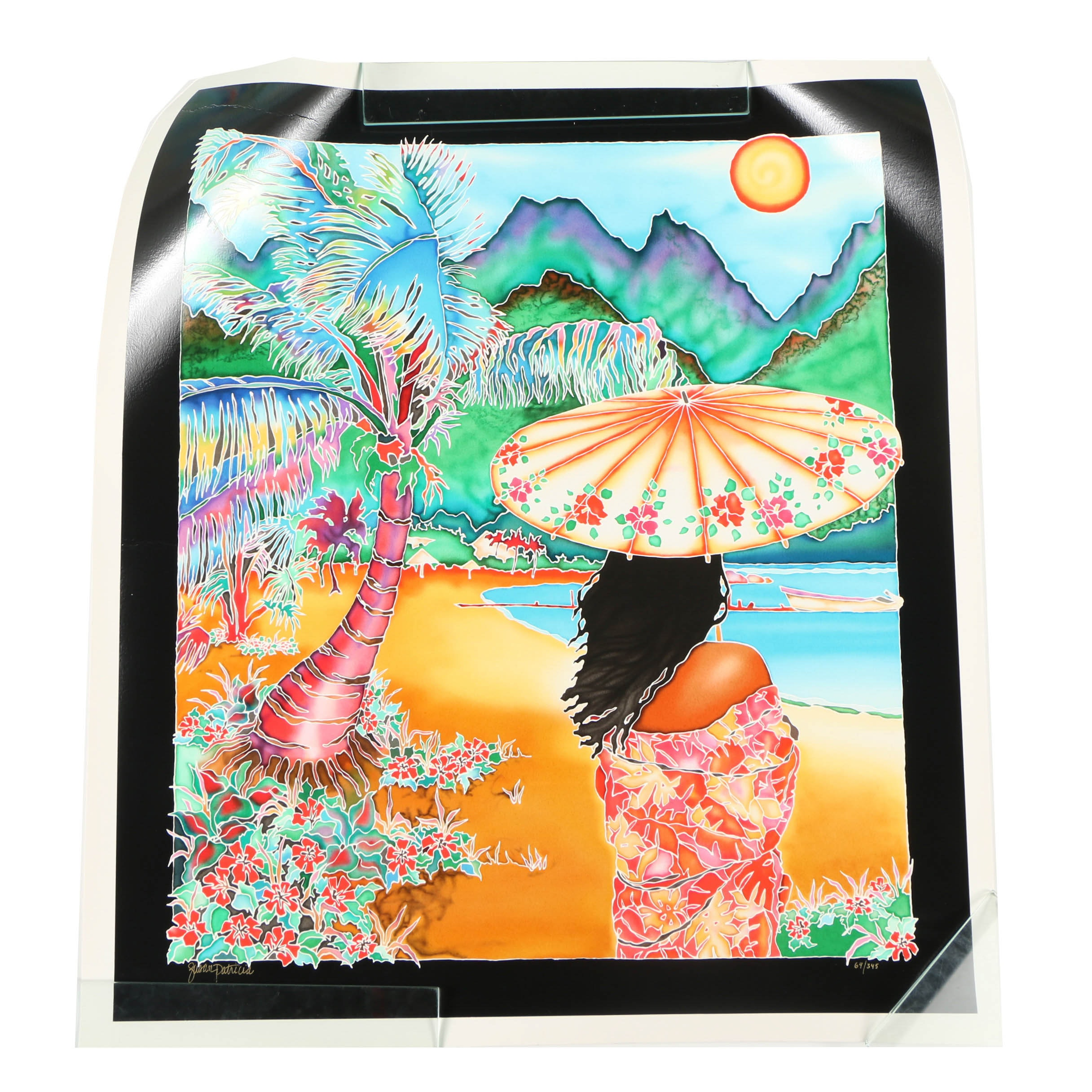"Susan Patricia Serigraph ""The Painted Parasol"""