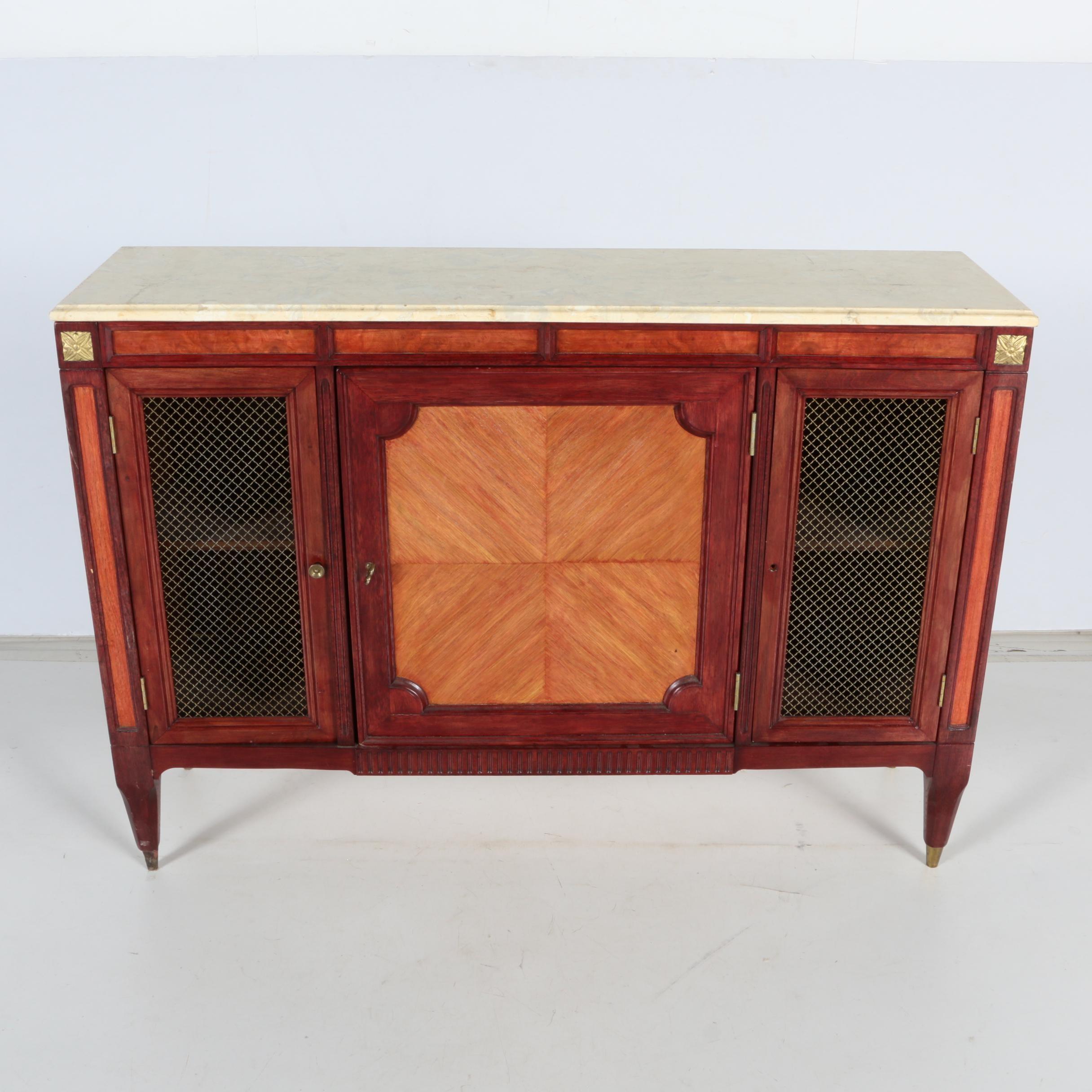 Marble Top Cabinet by J. B. Van Sciver