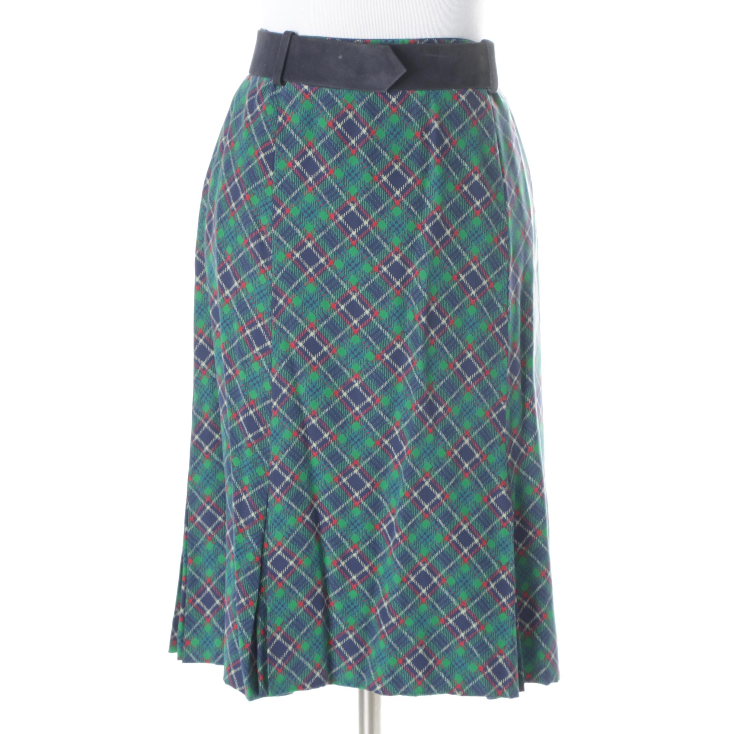 Women's Vintage Cardinali Plaid Skirt