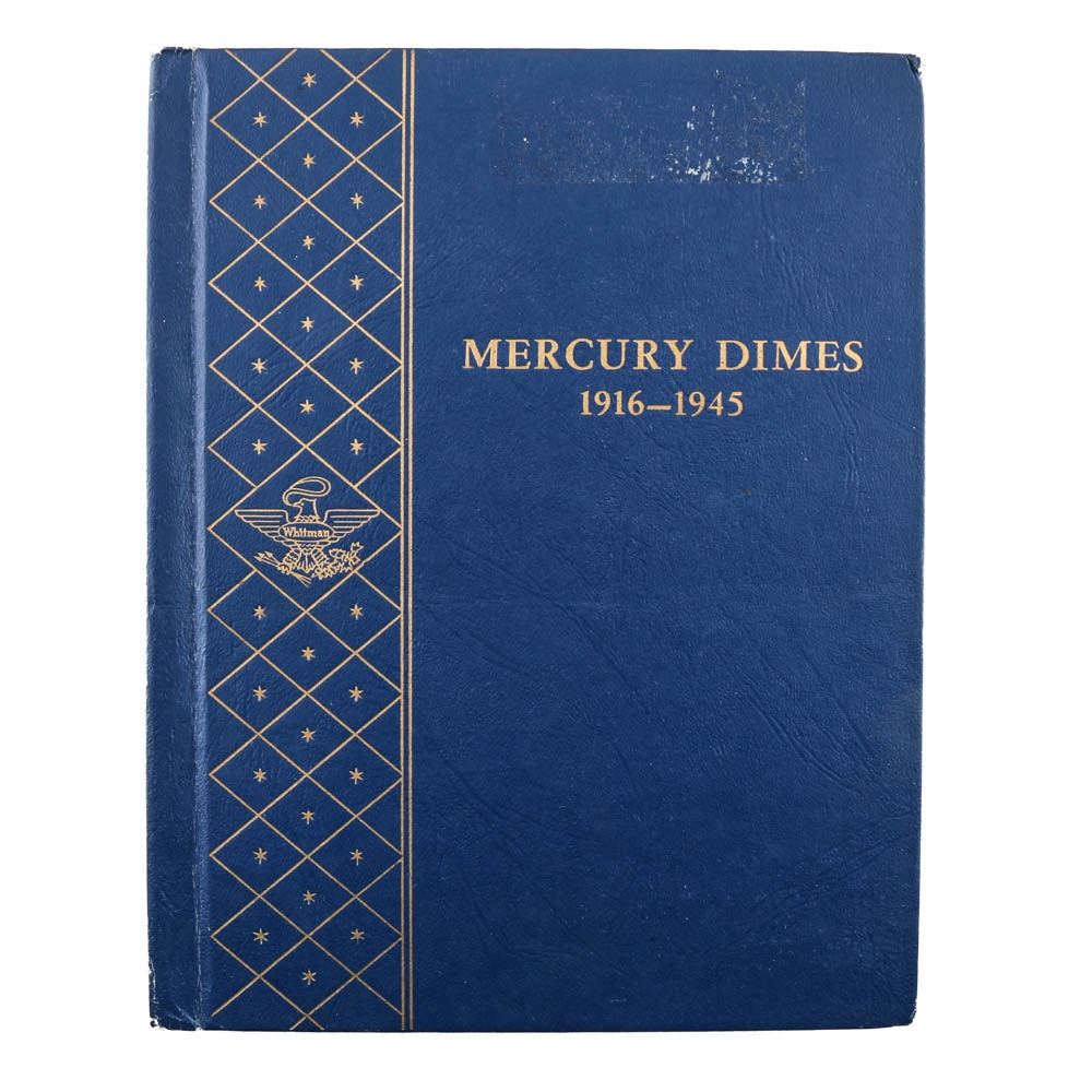 Whitman Binder of Mercury Silver Dimes
