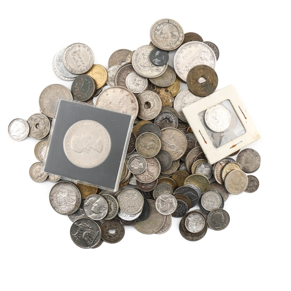 Vintage Foreign Coin