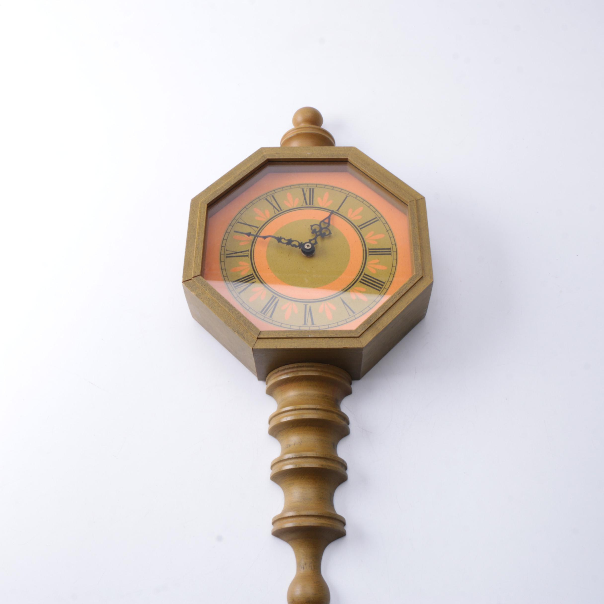 Wood Spiral Wall Clock