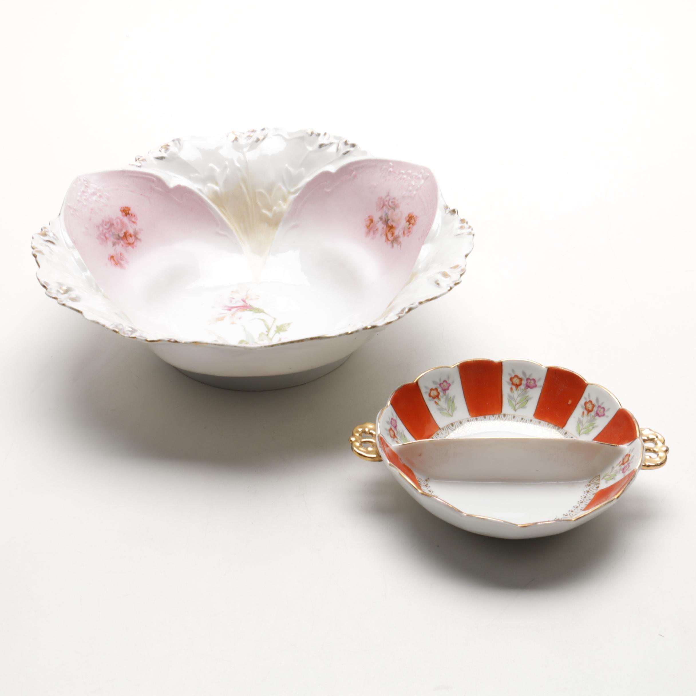 Pairing of Vintage Porcelain Bowls