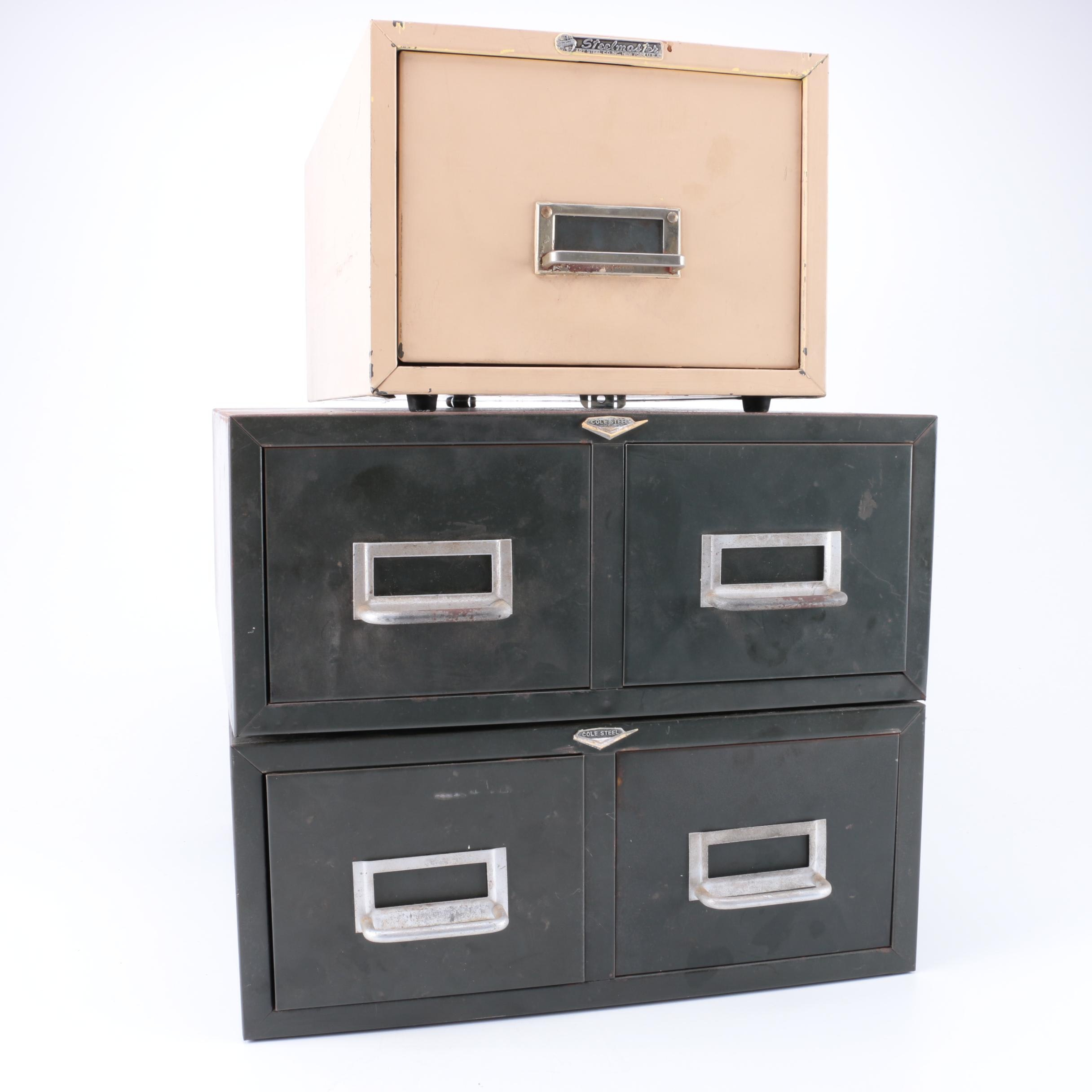 Vintage Filing Cabinets by Cole Steel and Steelmaster