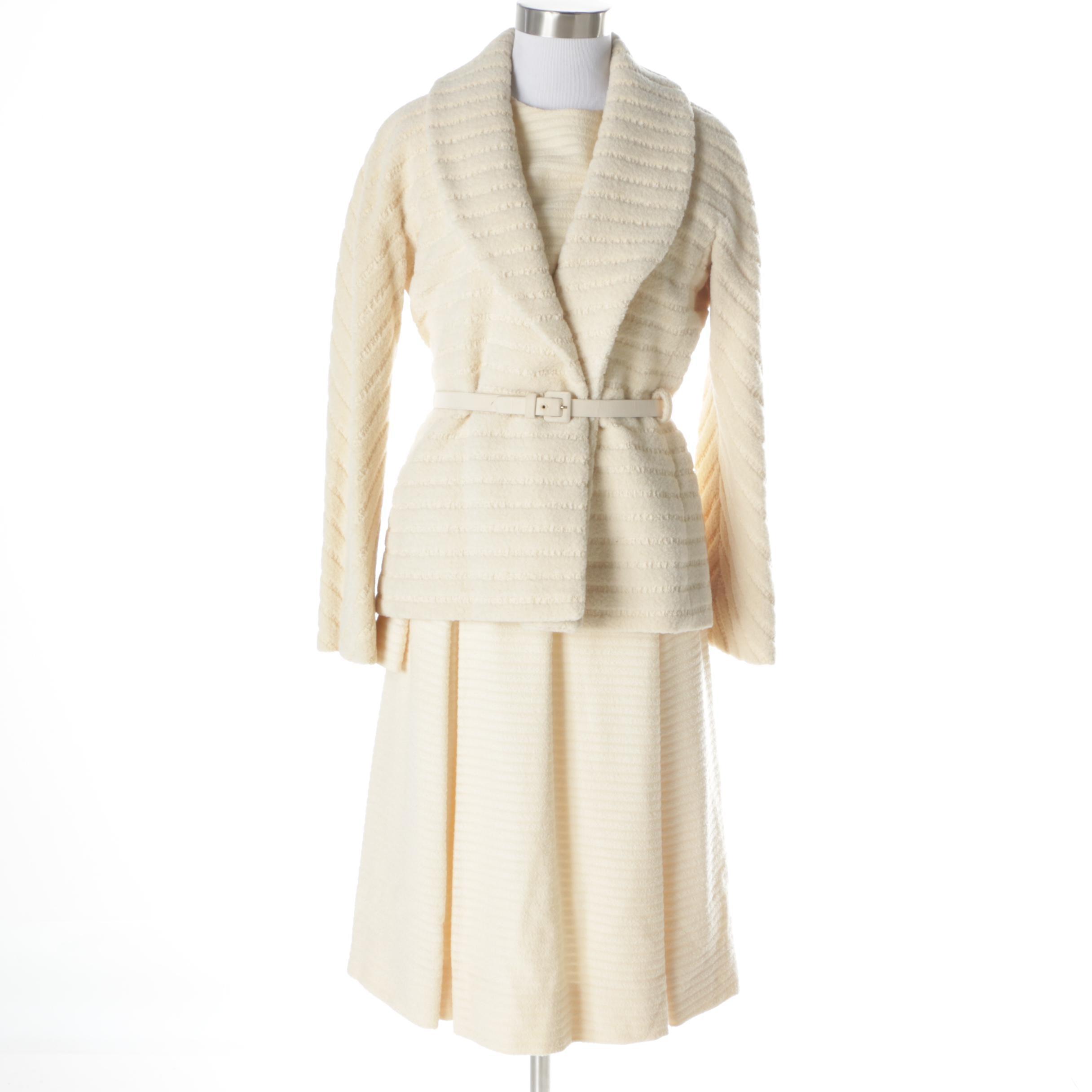 Vintage Cardinali Wool Blend Jacket Dress