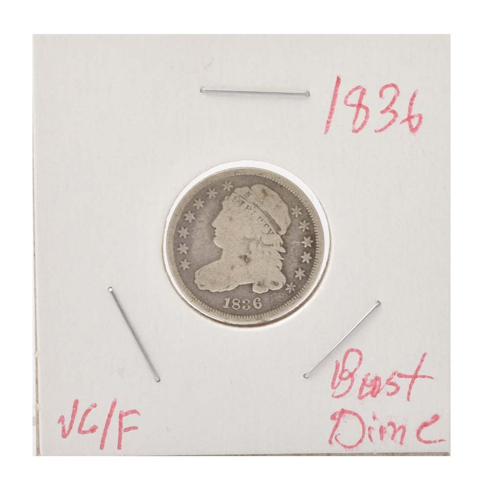 1836 Capped Bust Silver Dime