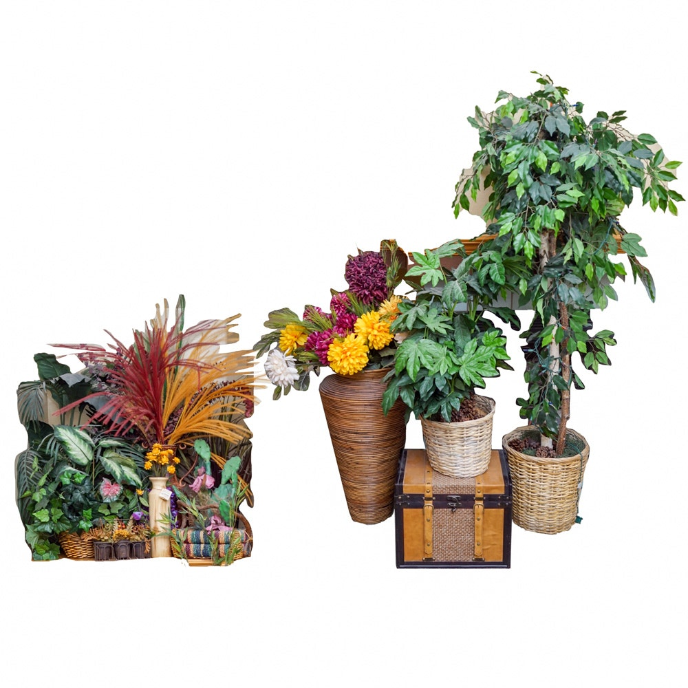 Assorted Artificial Plants and Arrangements