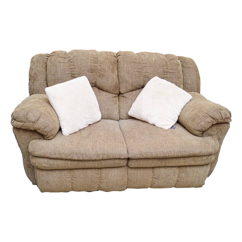 Contemporary Bustle Back Reclining Loveseat