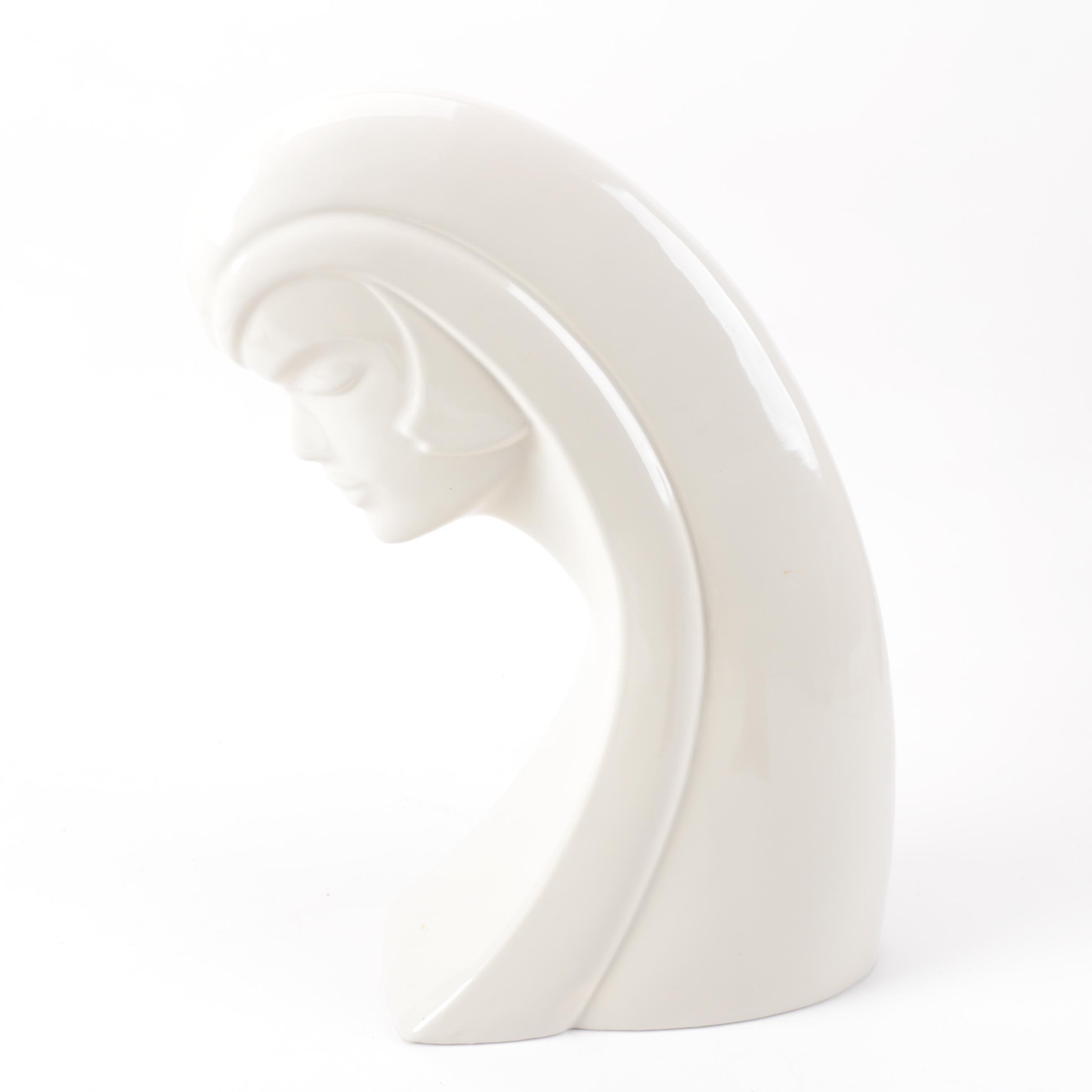 Haeger Art Deco Bust Figurine