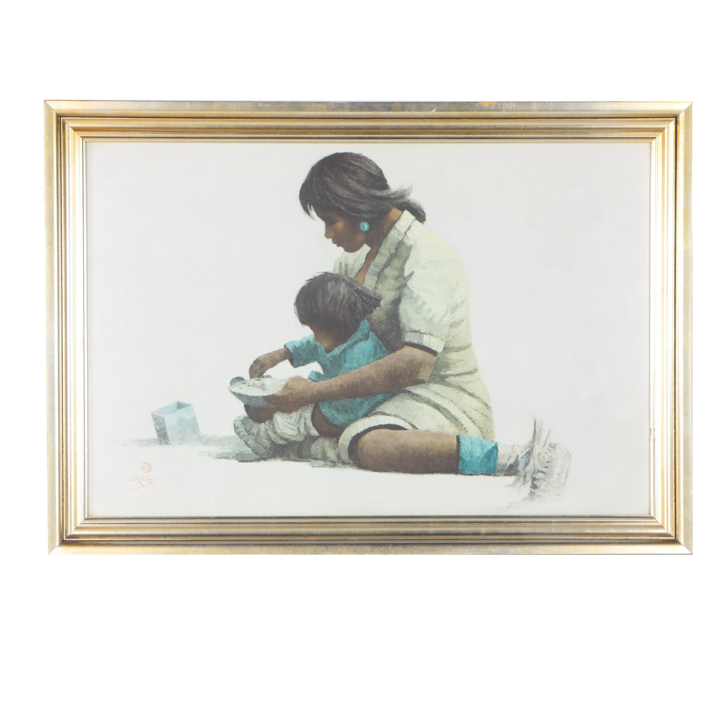 "Giclée Reproduction after Eustace Paul Ziegler ""Indian Mother and Child (Tanana)"""