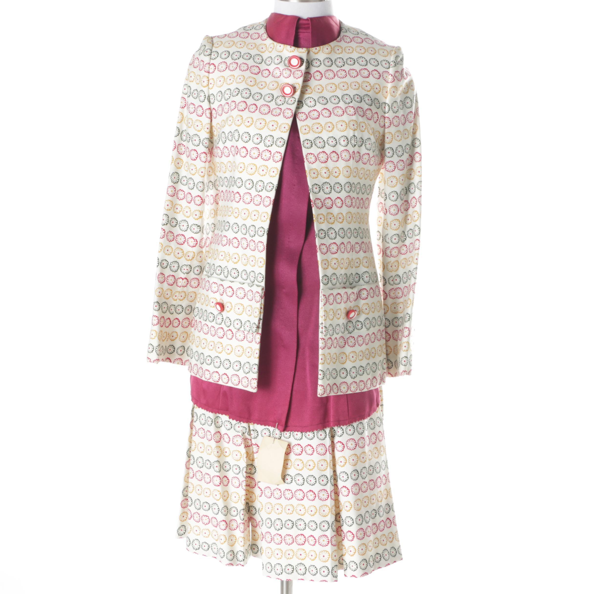 Vintage Cardinali Skirt Suit and Sample Shirt