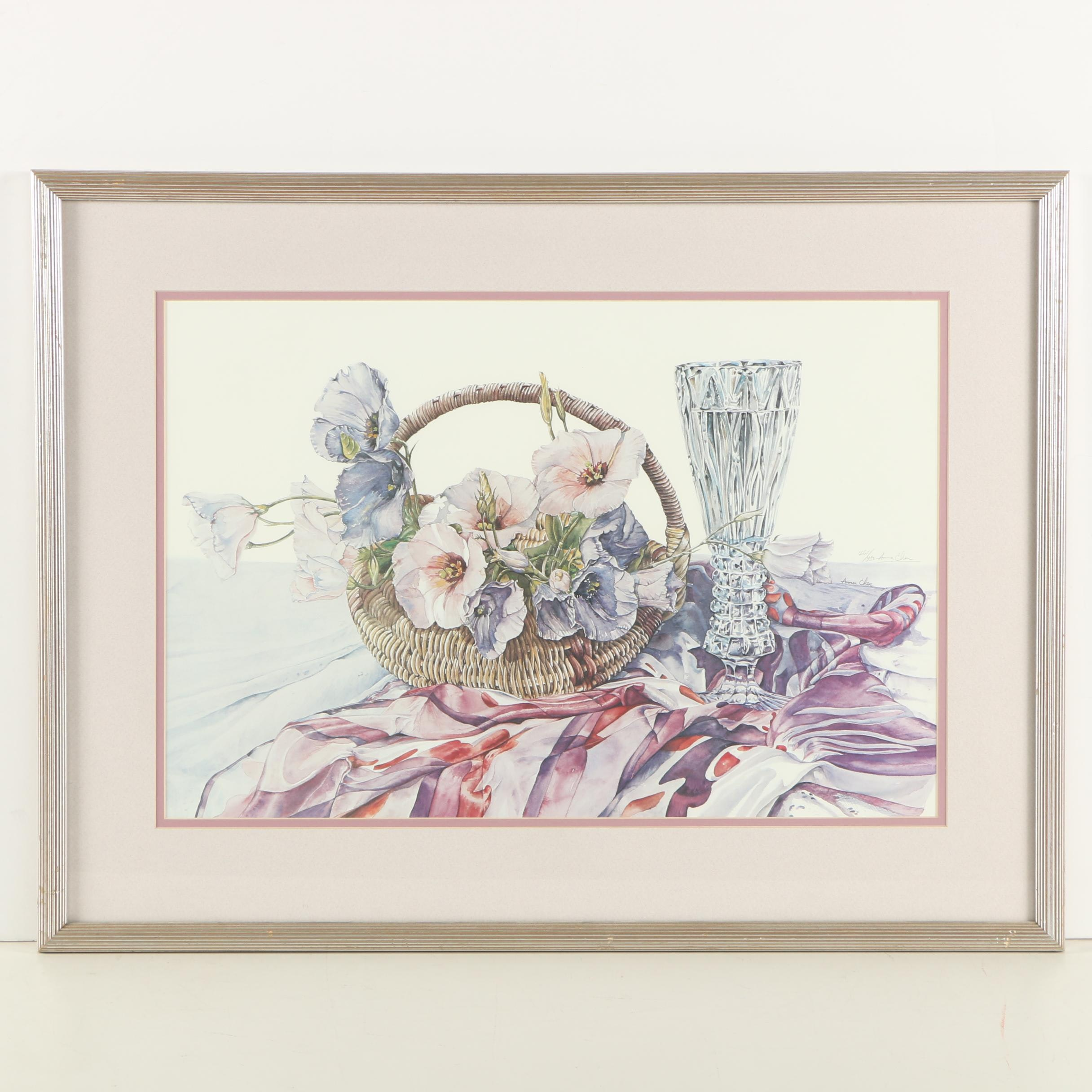 Anna Chen Still Life Limited Edition Offset Lithograph