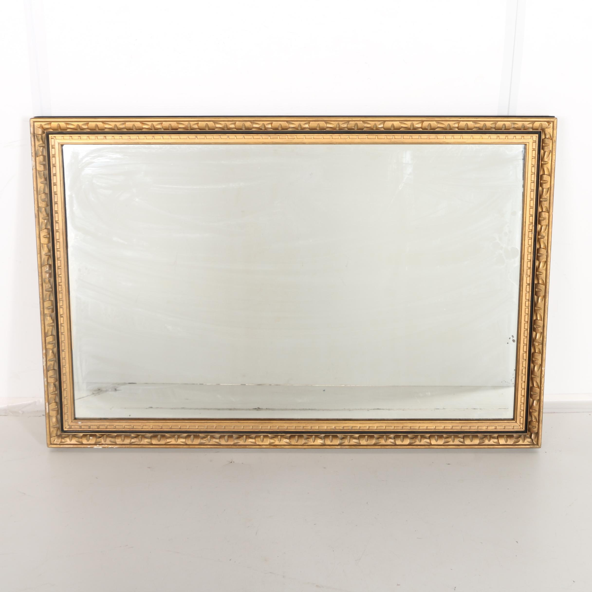 Gold Tone Carved Wooden Mirror