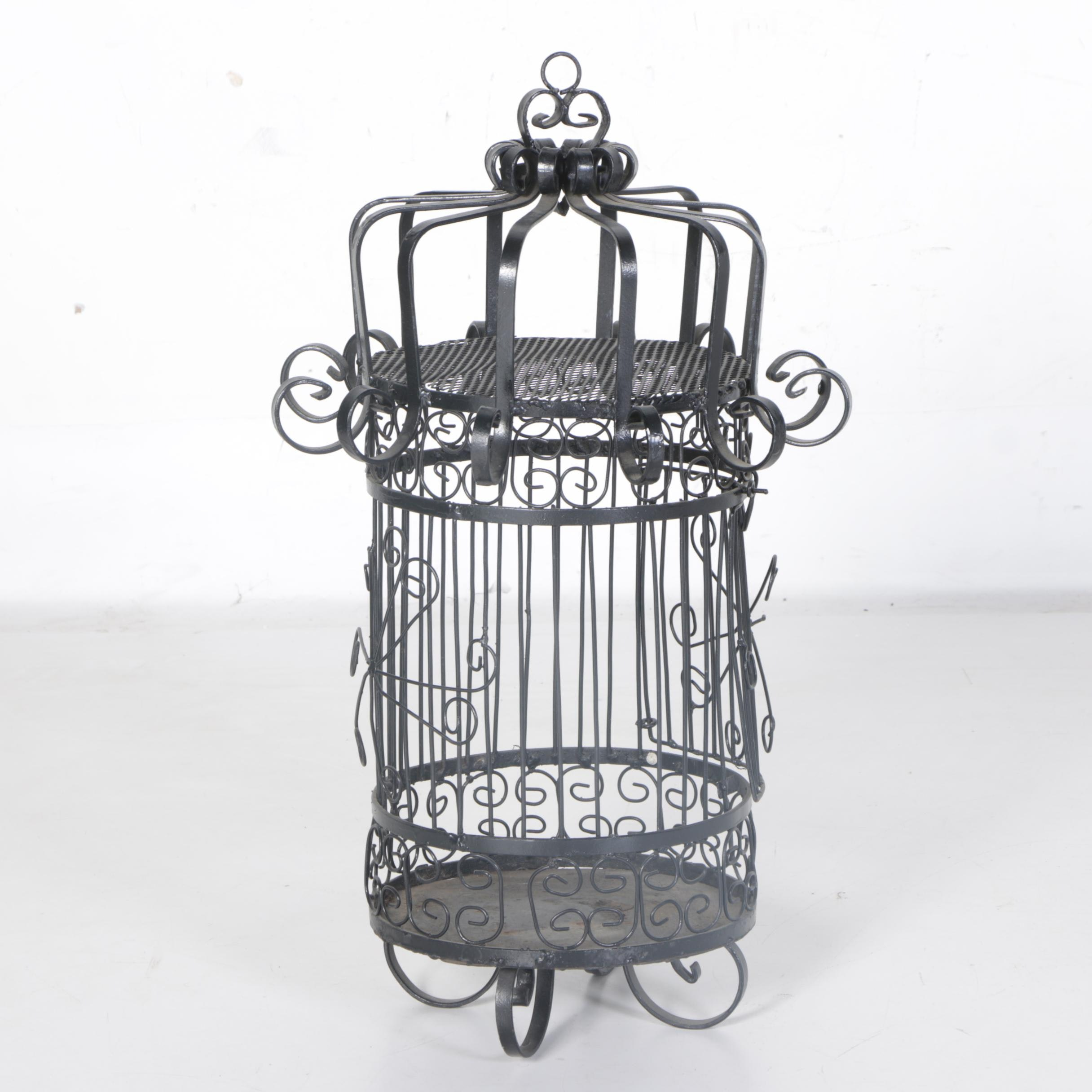 Cylindrical Metal Birdcage