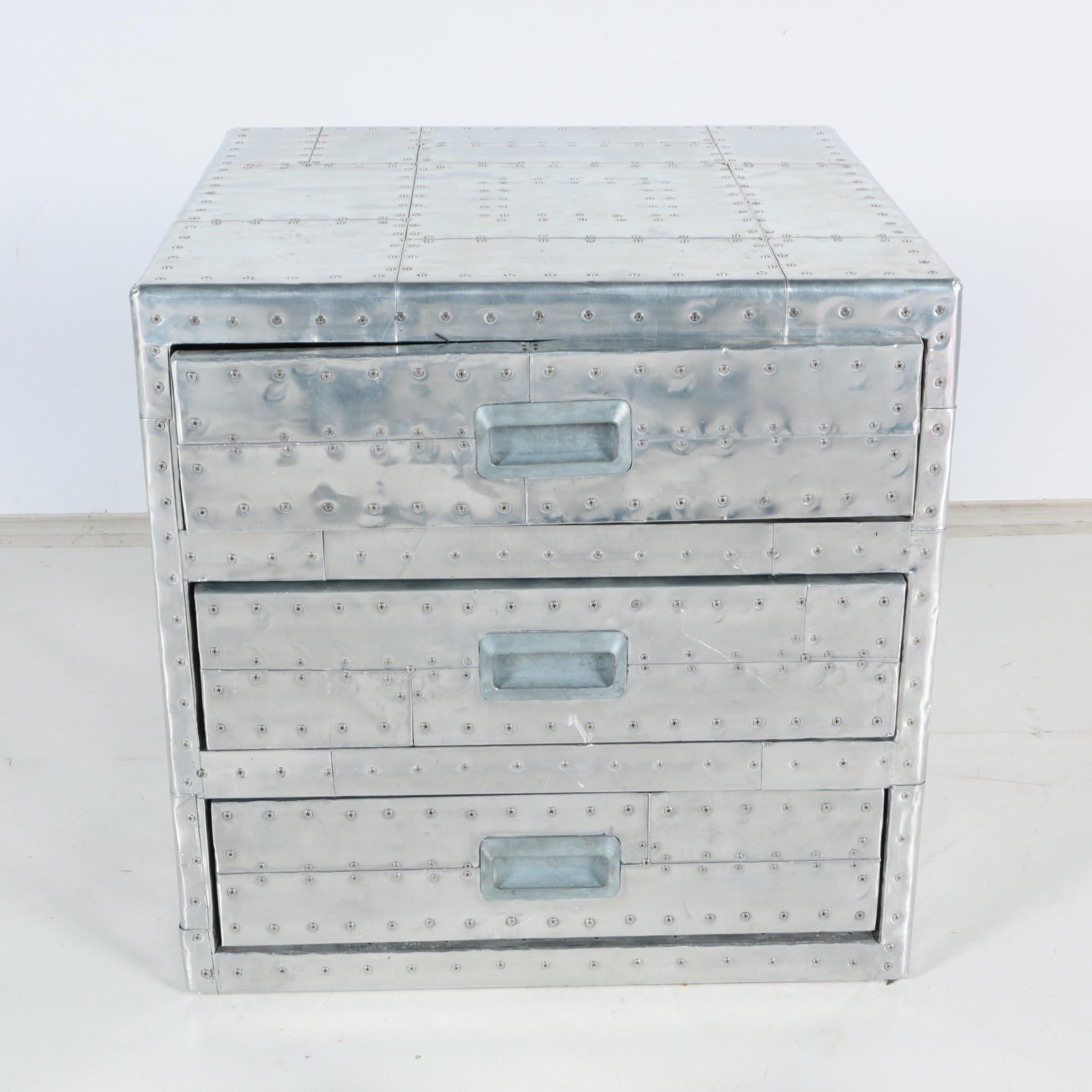 Chrome Tone Tool Cabinet