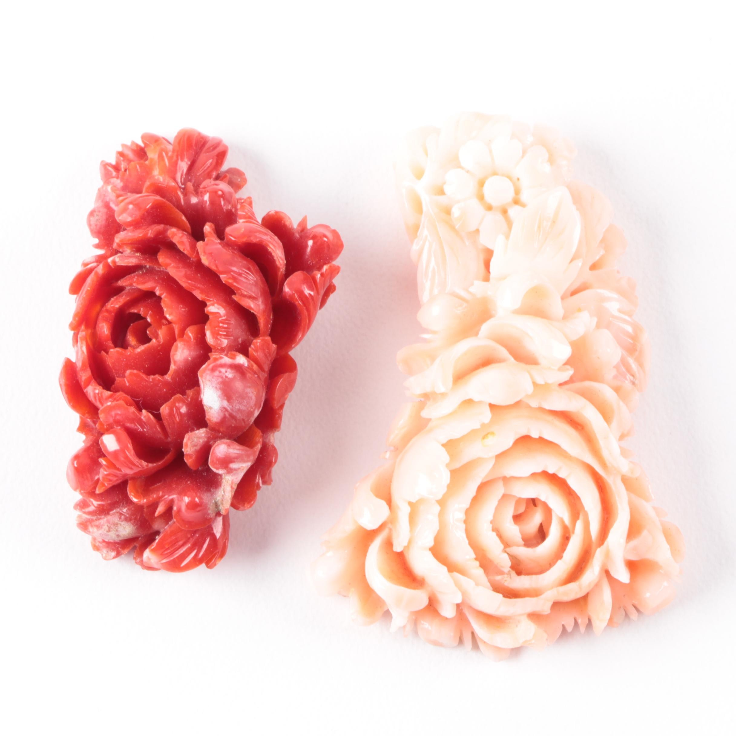Carved Coral Décor