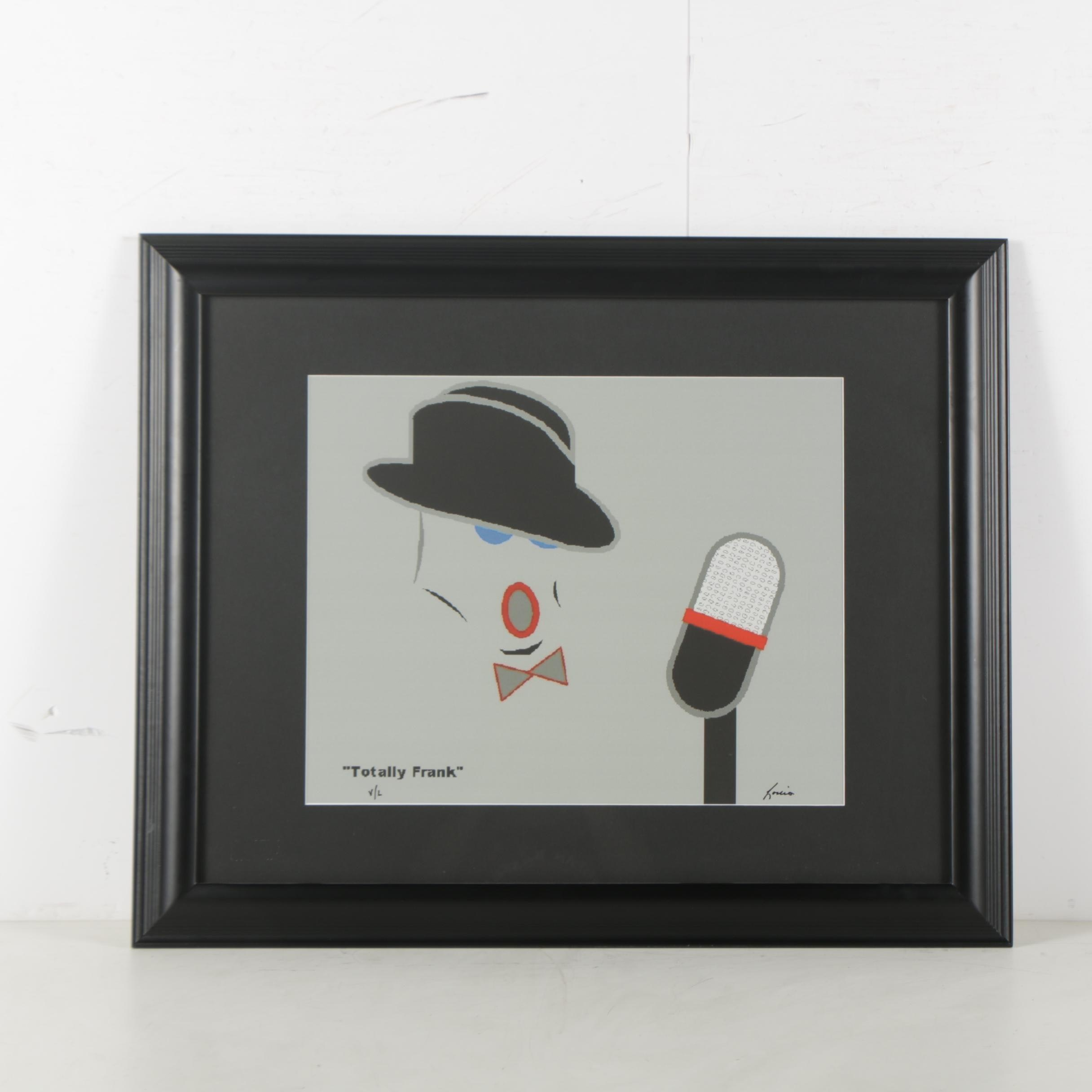 """Limited Edition Giclee After Louis """"Totally Frank"""""""