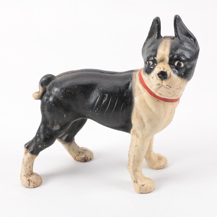 Hubley Cast Iron Boston Terrier Doorstop ... - Hubley Cast Iron Boston Terrier Doorstop : EBTH