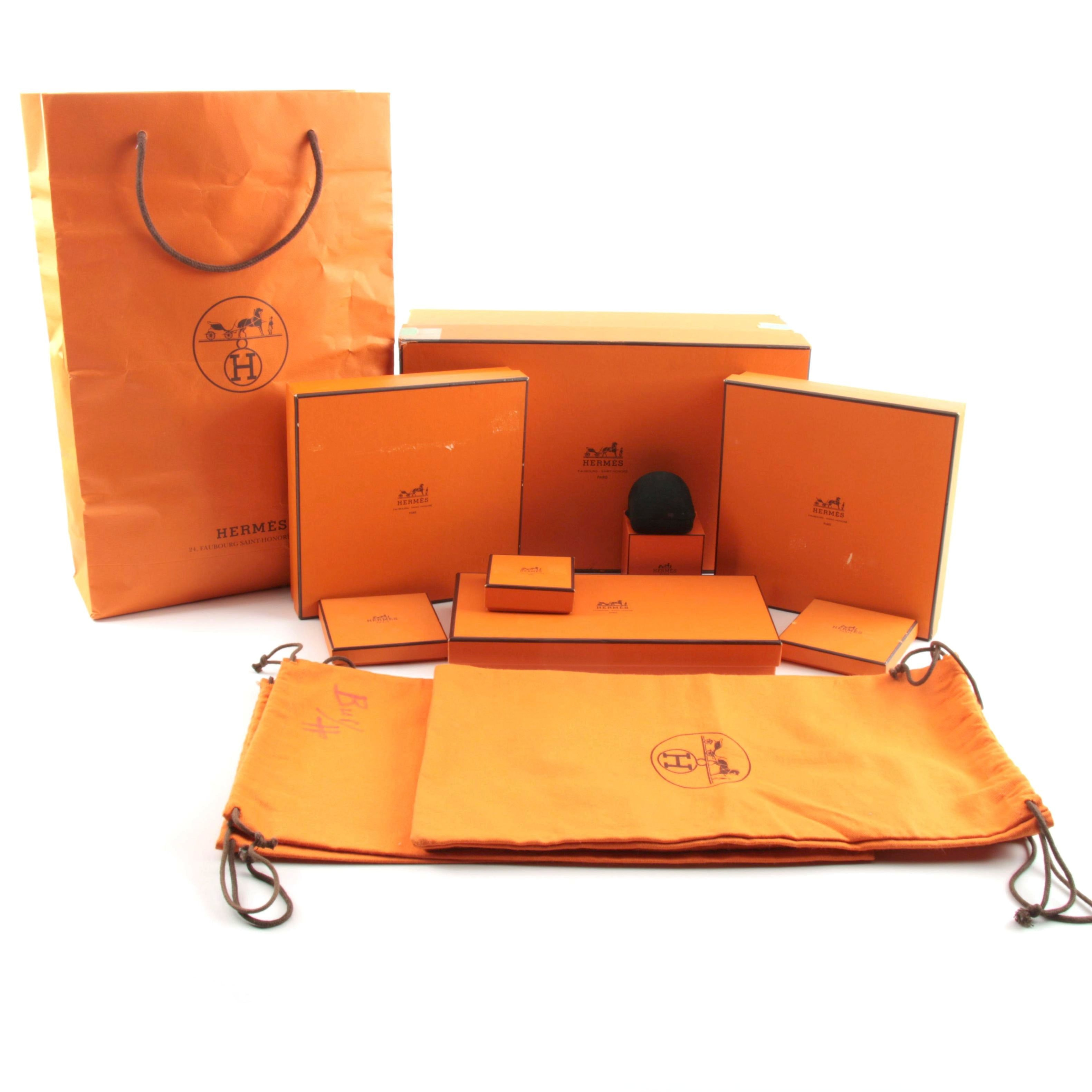 Hermès Gift Boxes and Shopping Bags