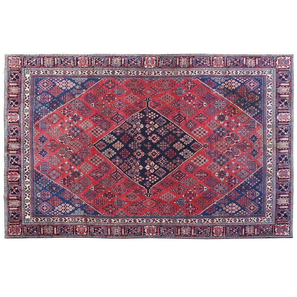 Hand-Knotted Persian Joshegan Wool Area Rug