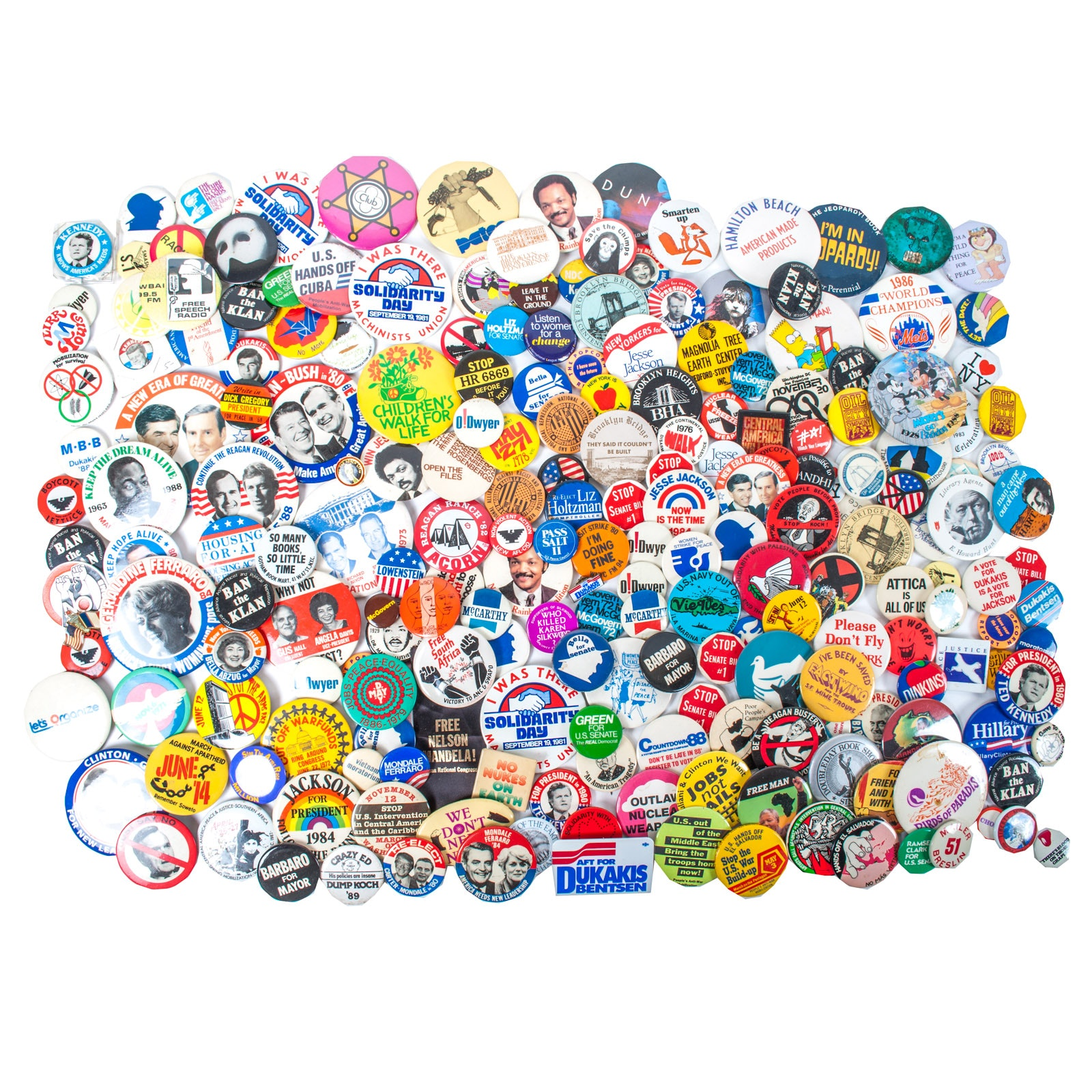 Large Assortment of Vintage and Contemporary Political Buttons