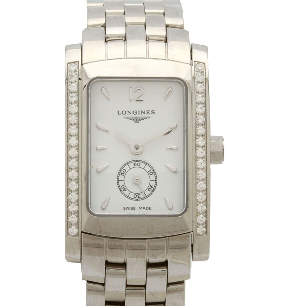 Longines Dolce Vita Steel White Diamonds Quartz Watch
