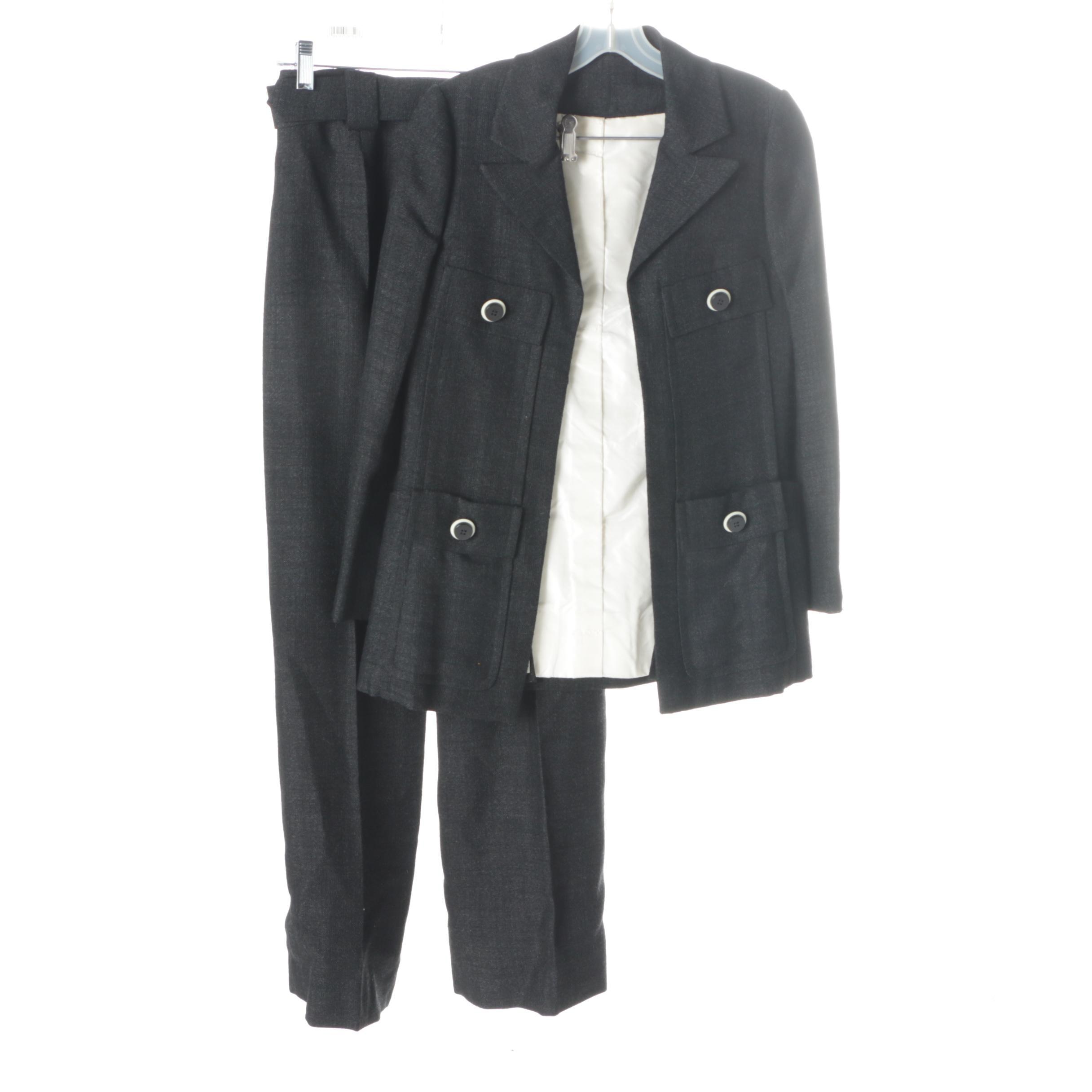 Women's Vintage Tweed Pant Suit