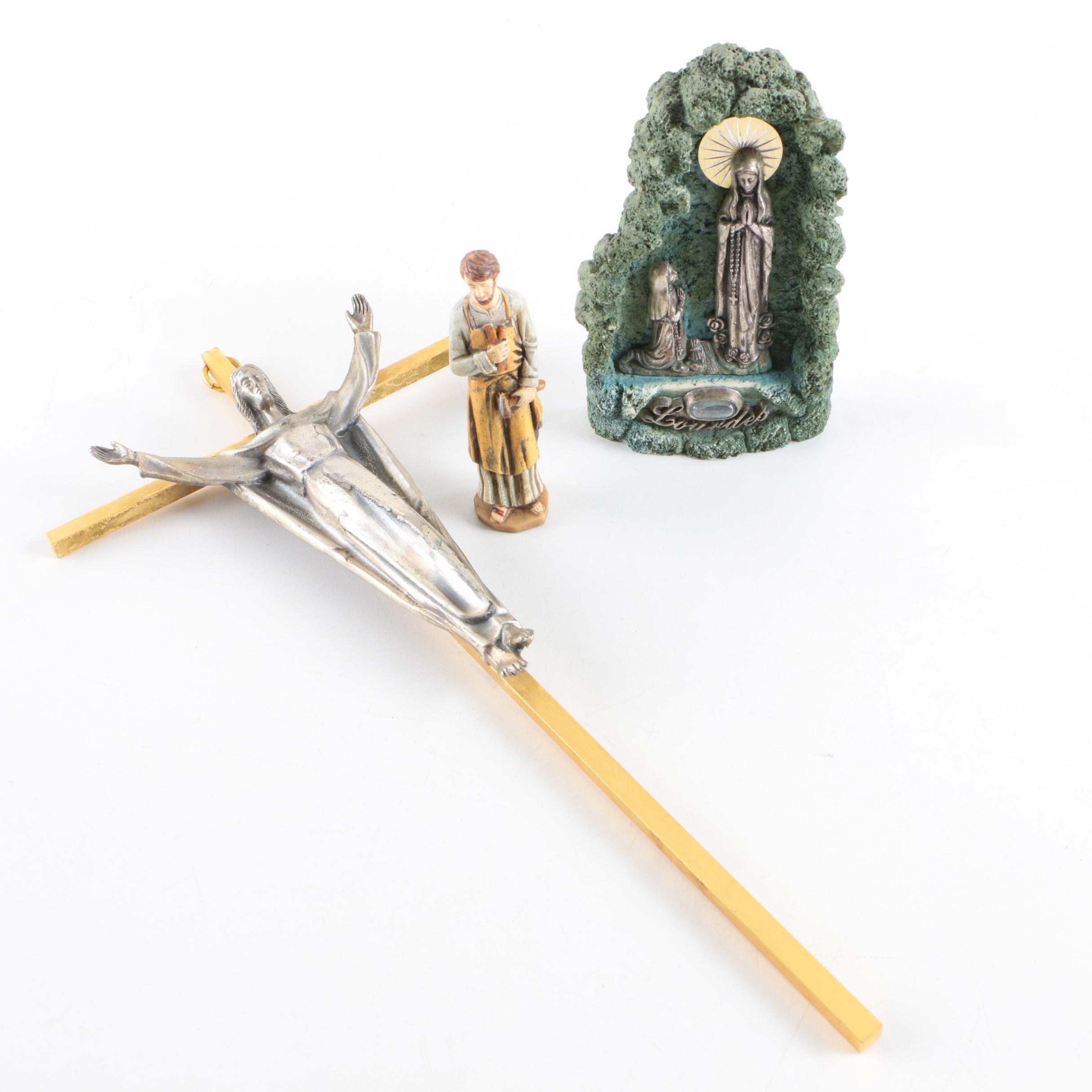 Crucifix and Figurines