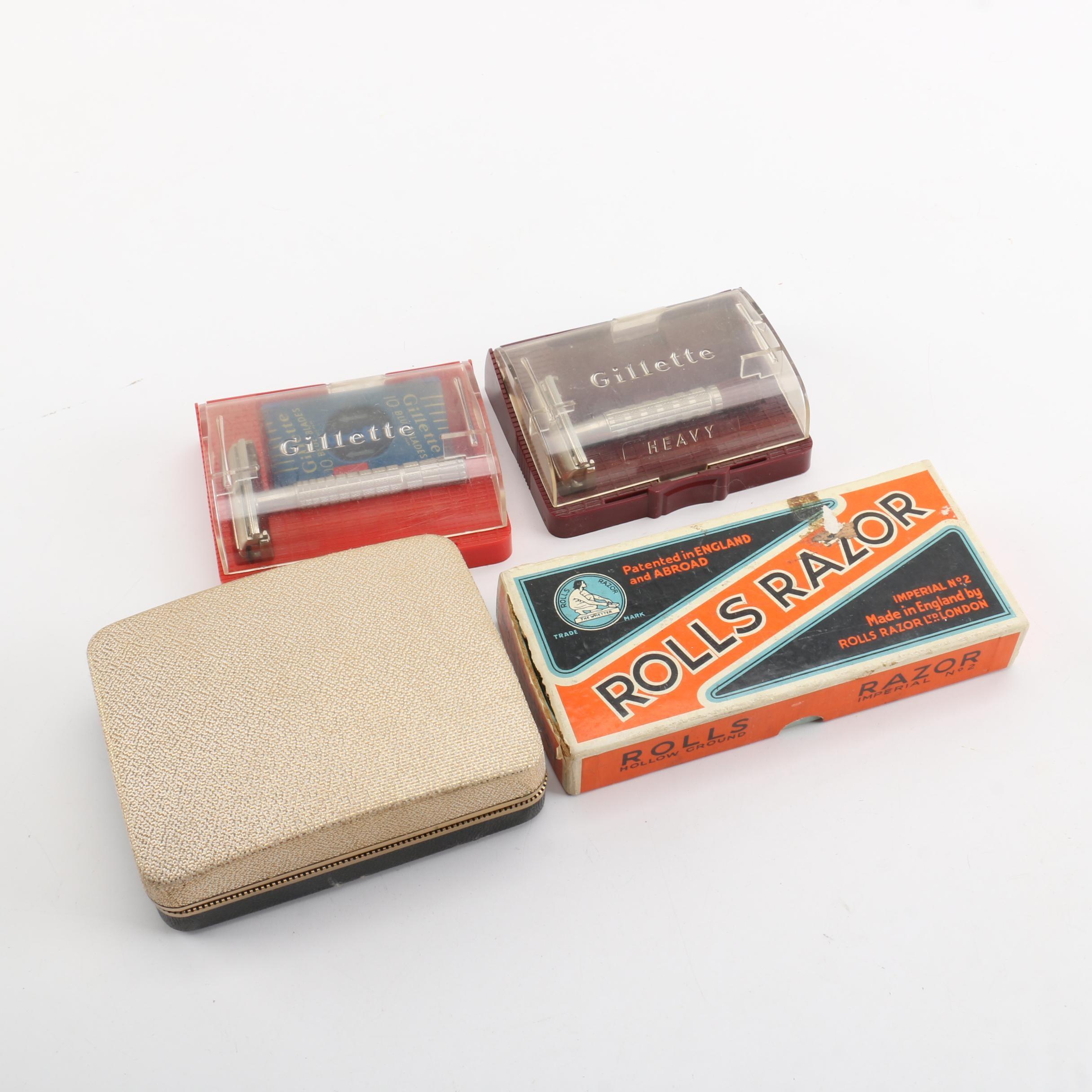Vintage Razors Including Rolls Razor