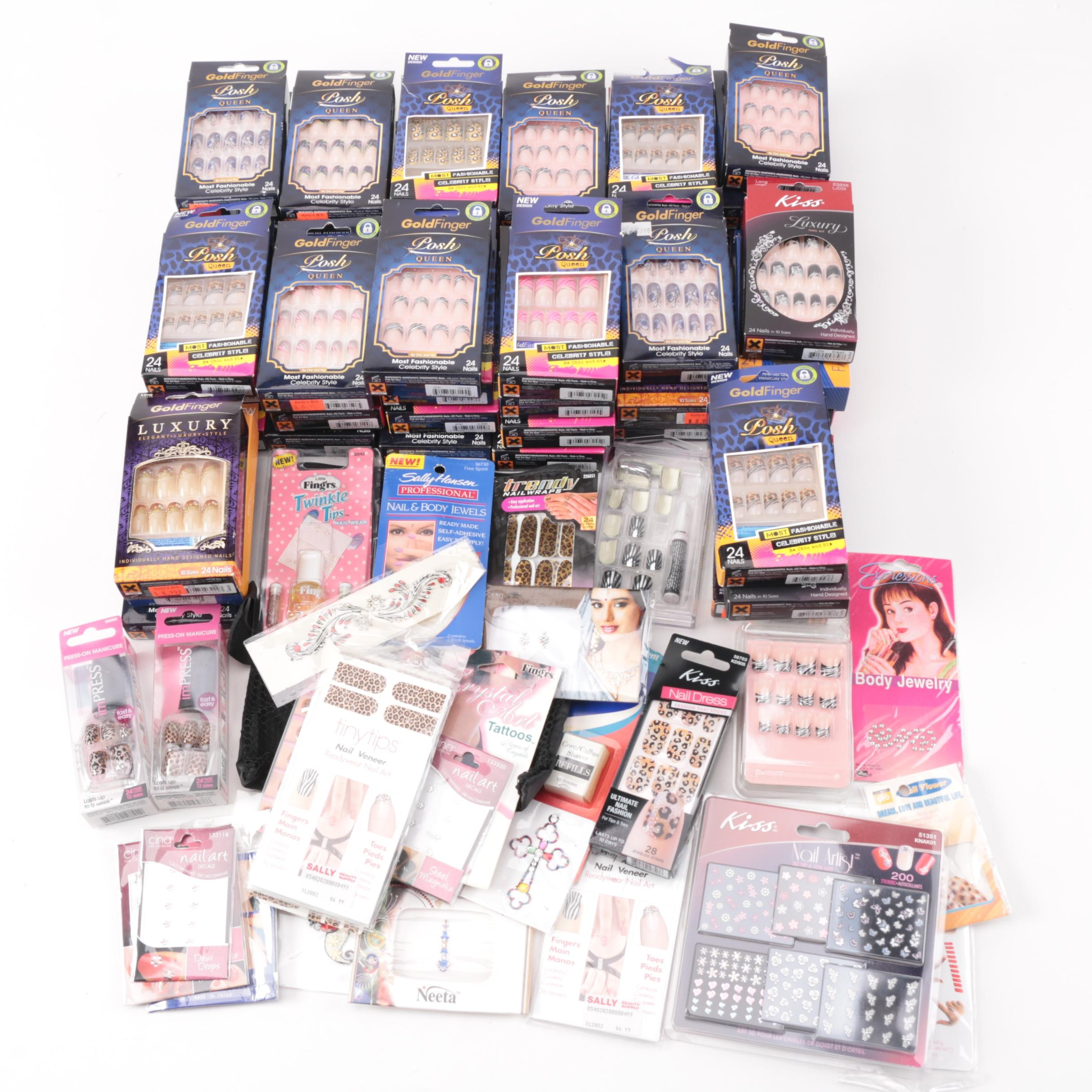 Artificial Nails, Body Jewelry and Grooming Accessories